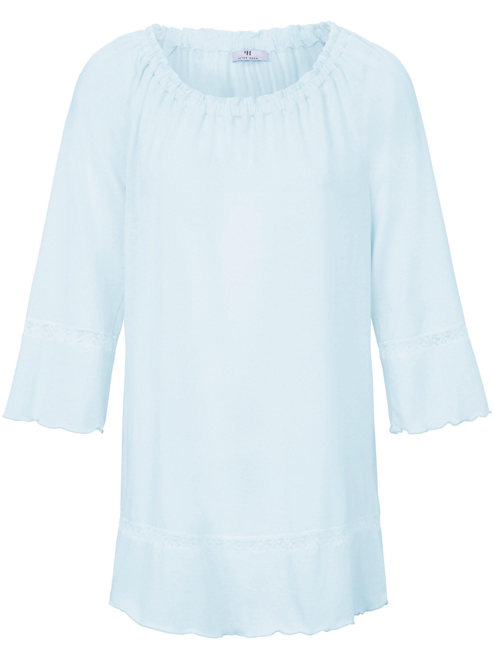 Pyjama met 3/4-raglanmouwen Van Peter Hahn blauw Kopen