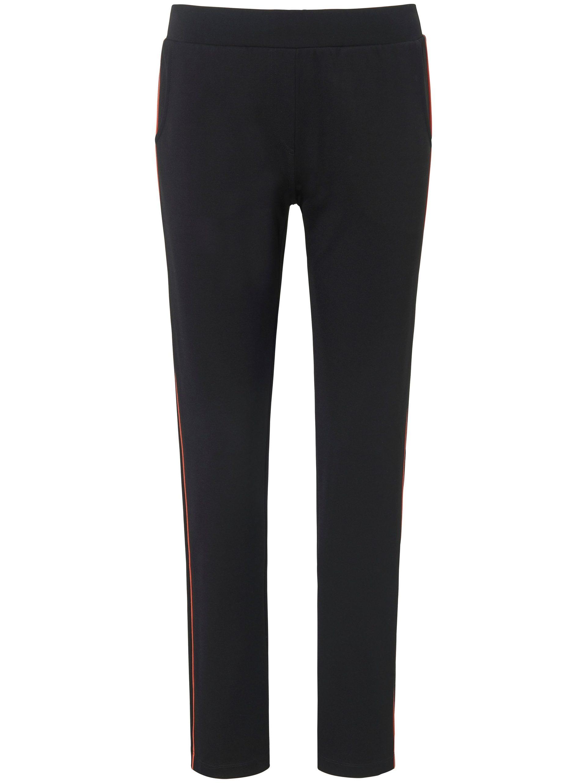 Broek met brede elastische band en rechte pijpen Van MYBC zwart Kopen