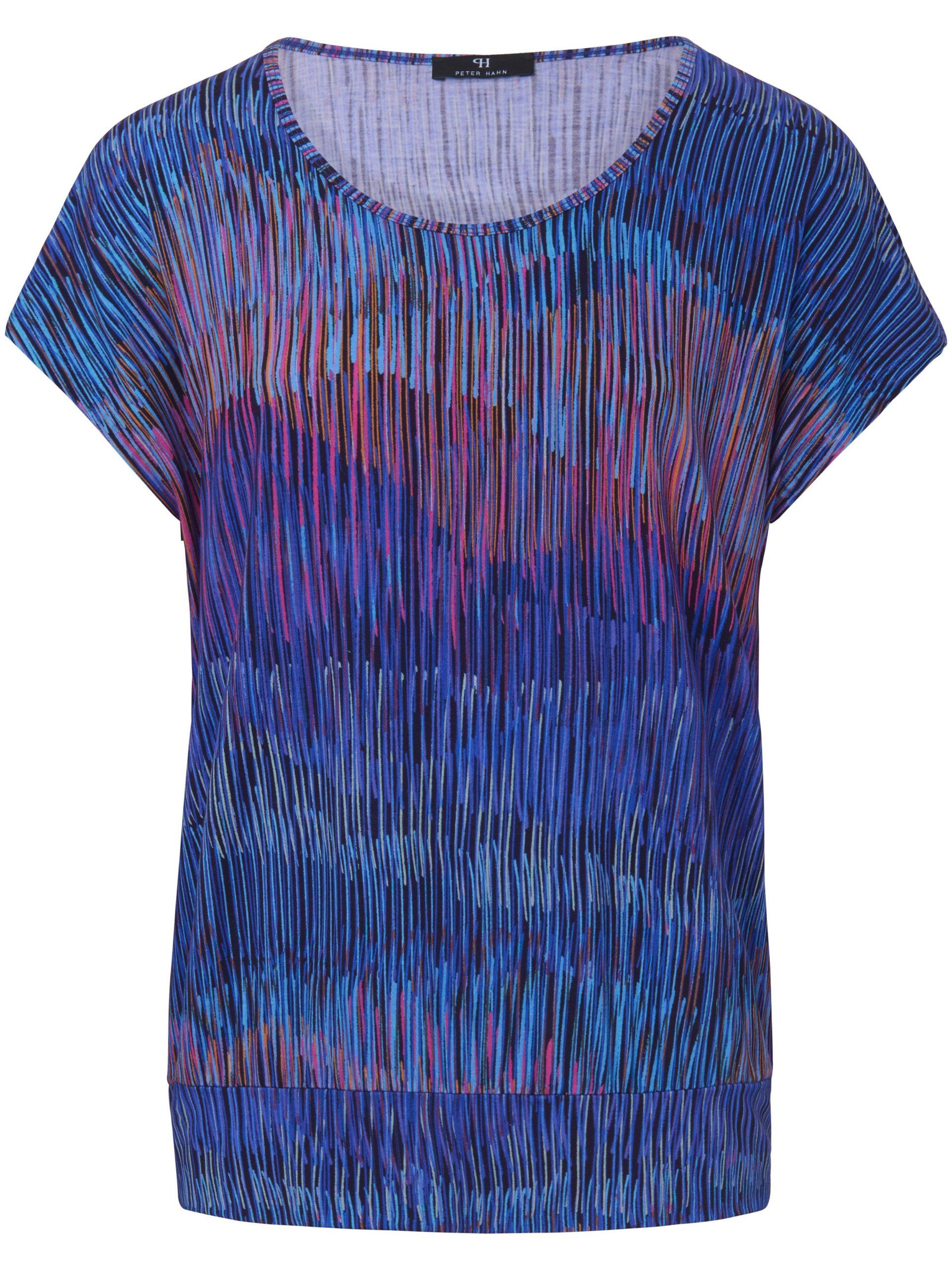 Shirt met ronde hals en verlaagde schoudernaden Van Peter Hahn multicolour Kopen
