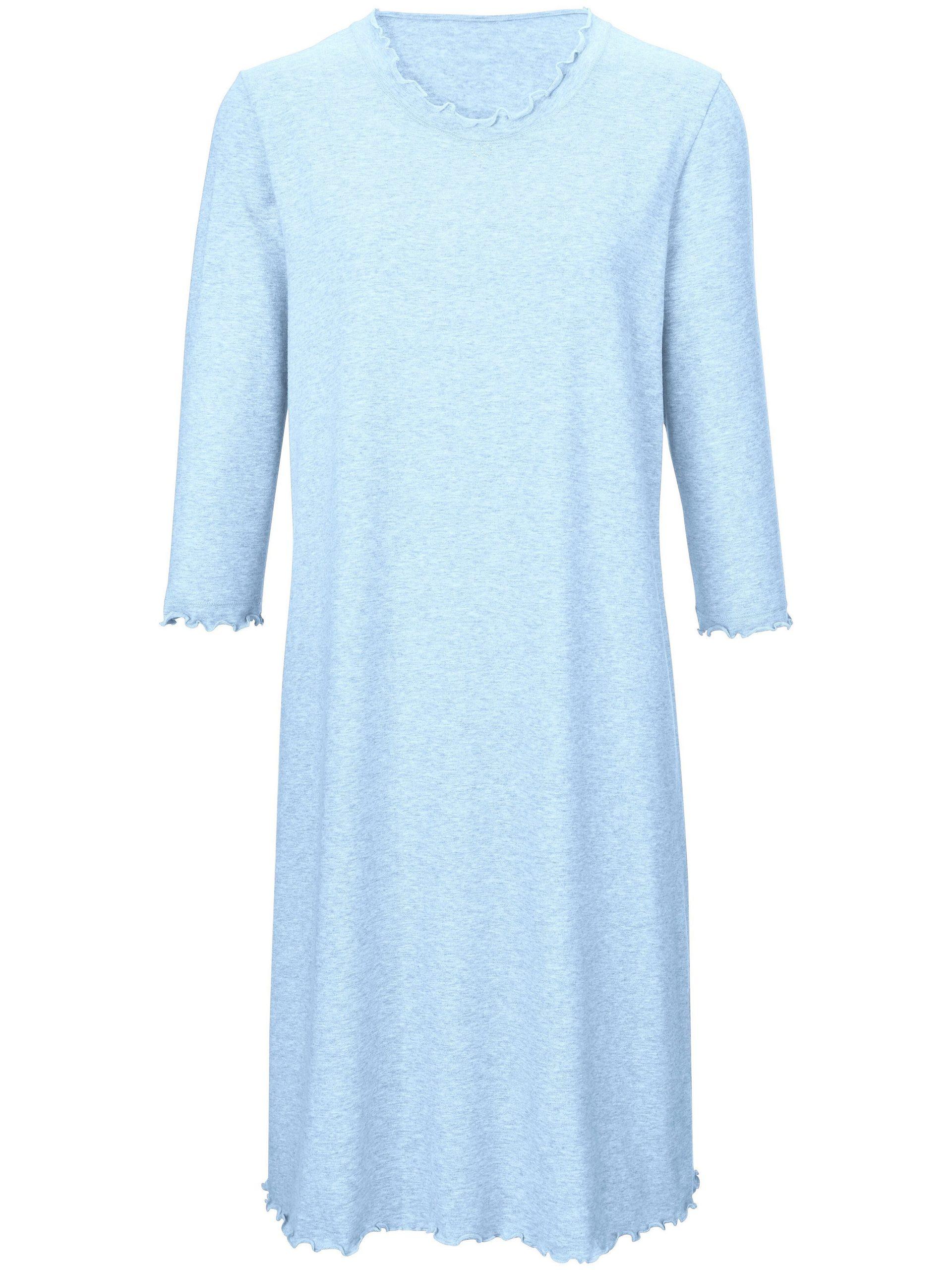 Nachthemd met 3/4 mouwen Van Peter Hahn blauw Kopen