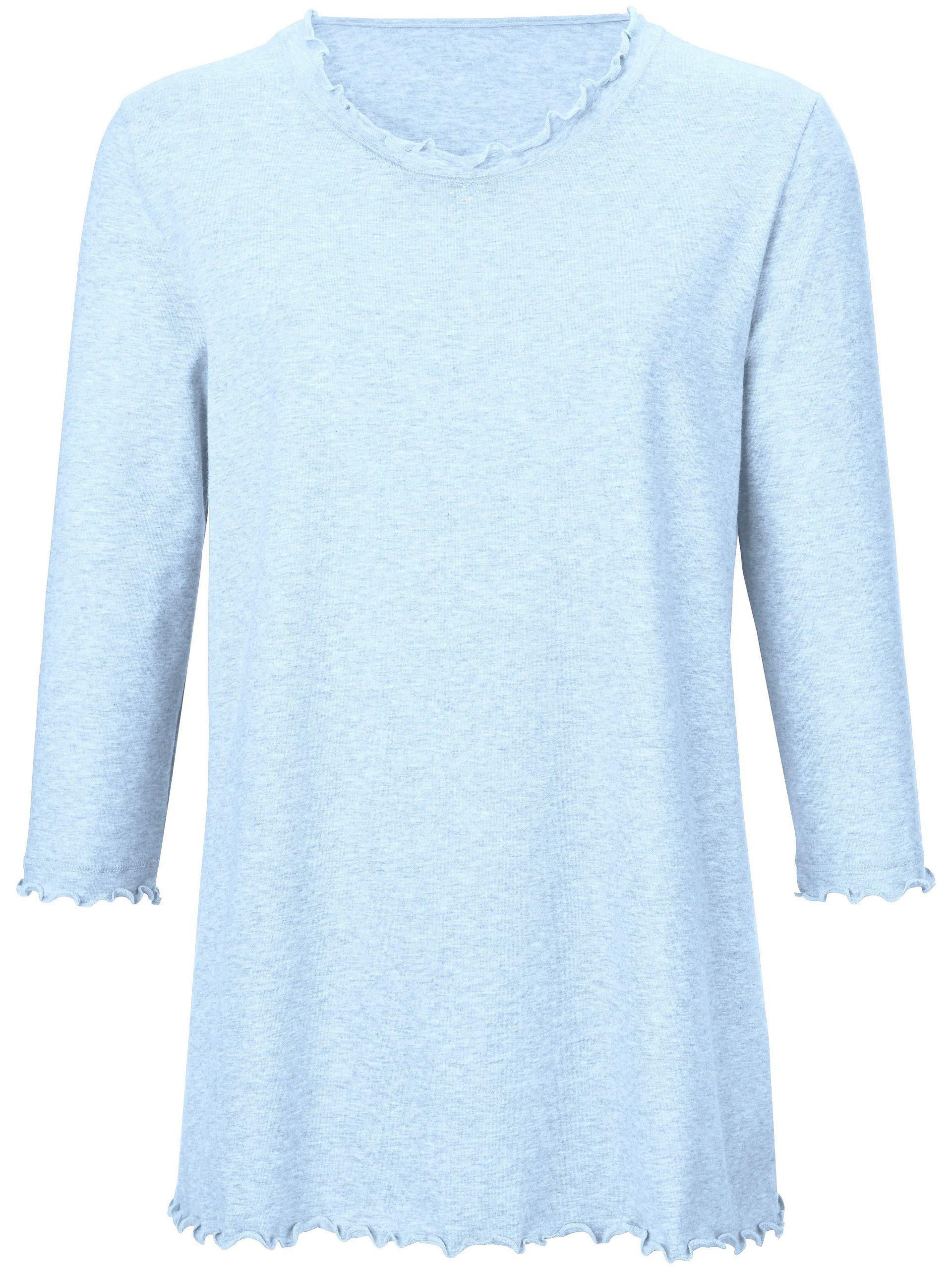 Pyjama van 100% katoen met 3/4-mouwen Van Peter Hahn blauw Kopen