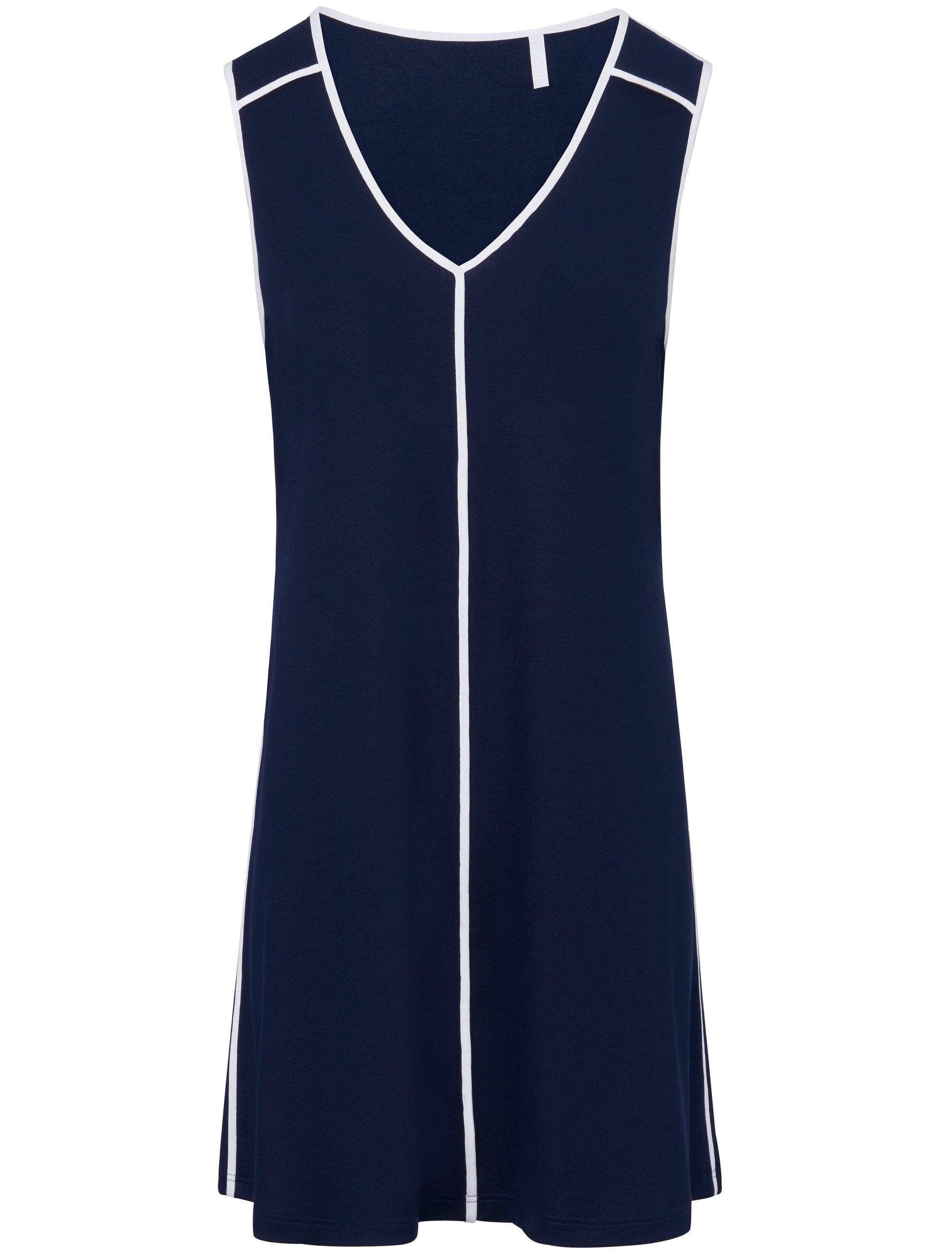 Mouwloze jurk met V-hals Van Rösch blauw Kopen