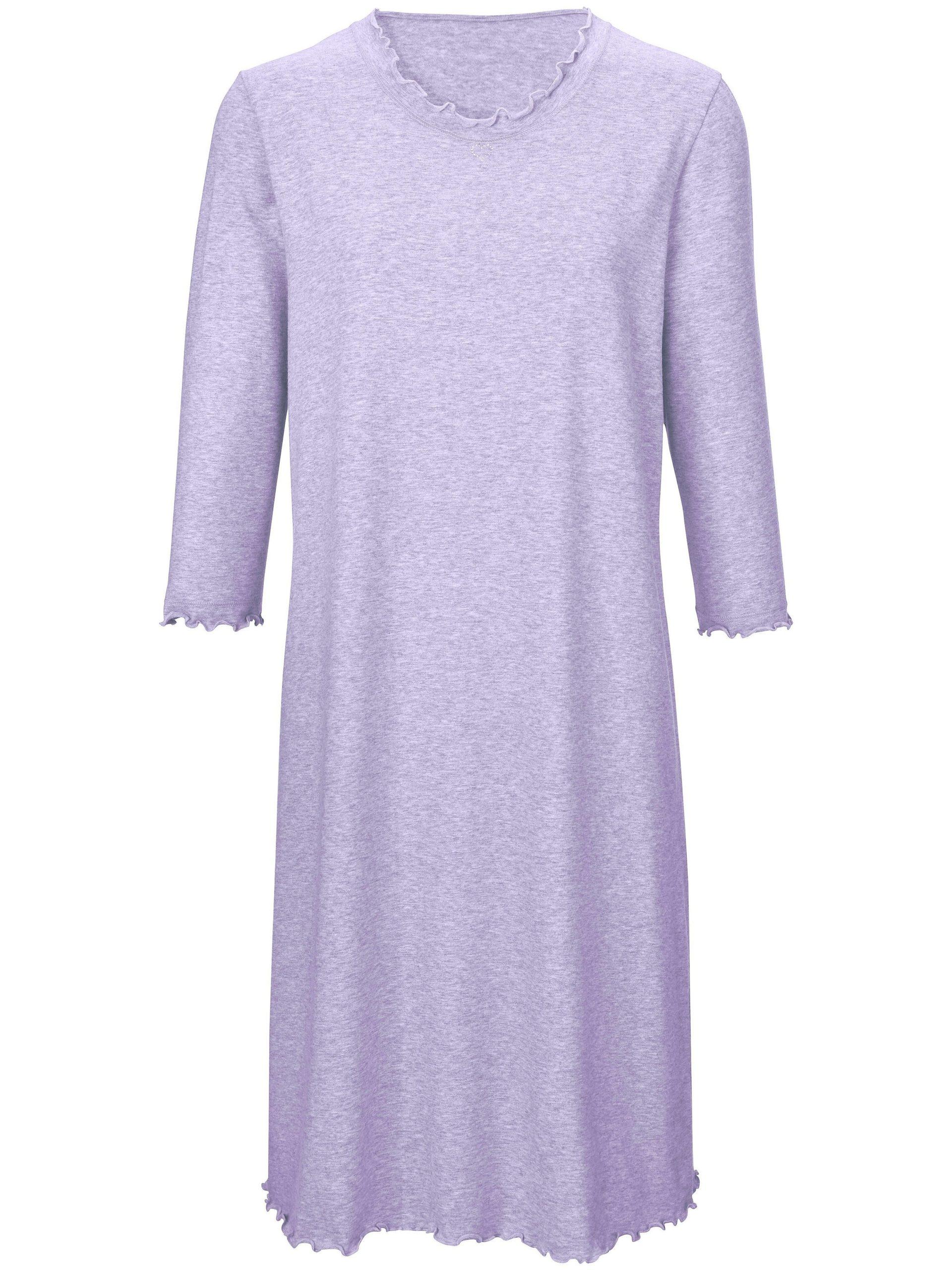 Nachthemd met 3/4 mouwen Van Peter Hahn paars Kopen