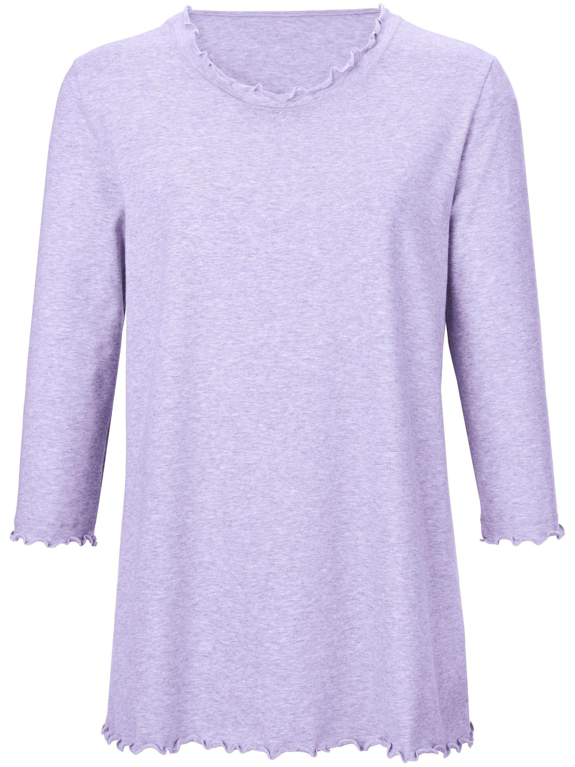 Pyjama van 100% katoen met 3/4-mouwen Van Peter Hahn paars Kopen