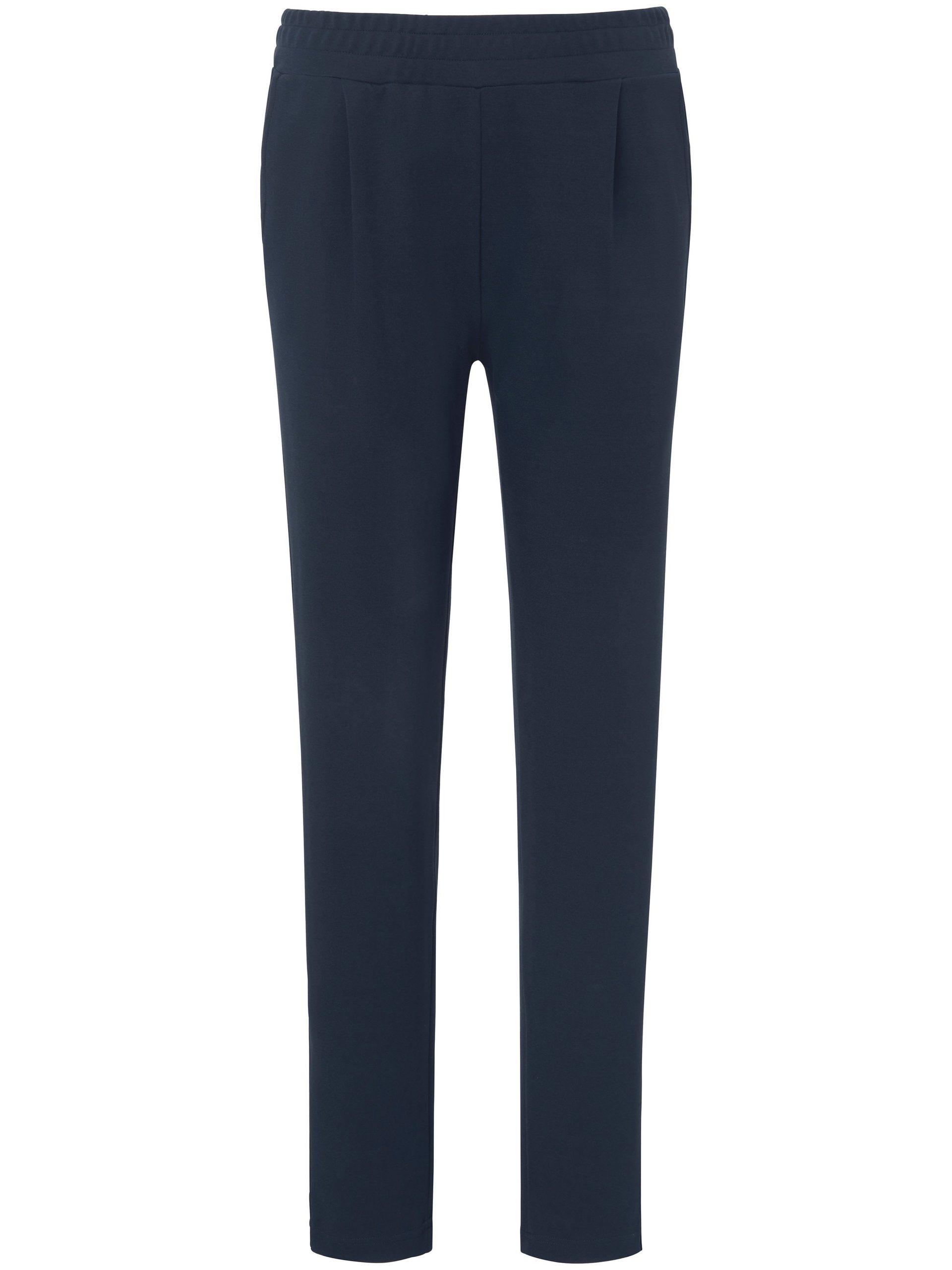 Broek met brede elastische band Van Peter Hahn blauw Kopen