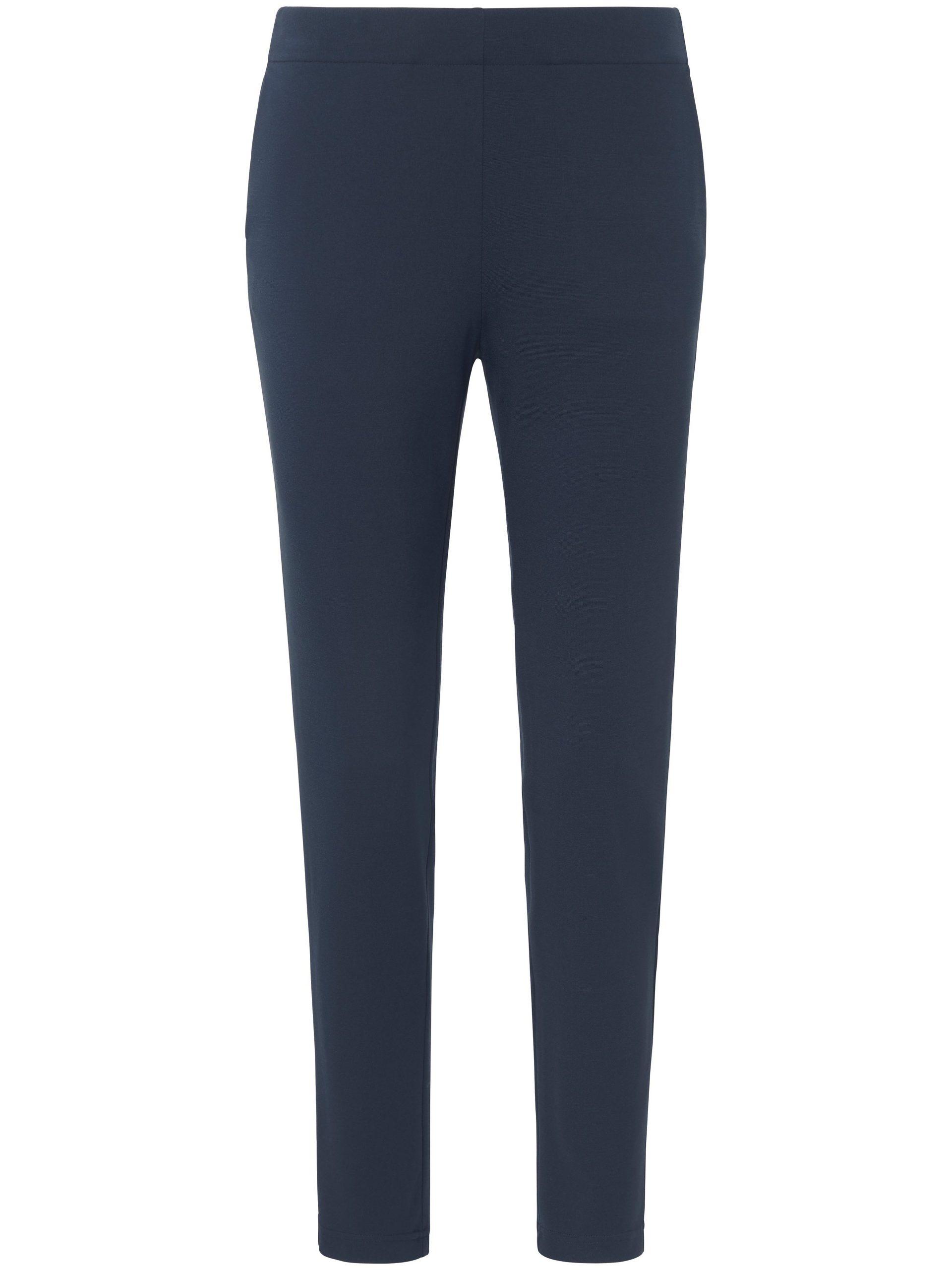 Enkellange broek met elastische band Van Peter Hahn blauw Kopen