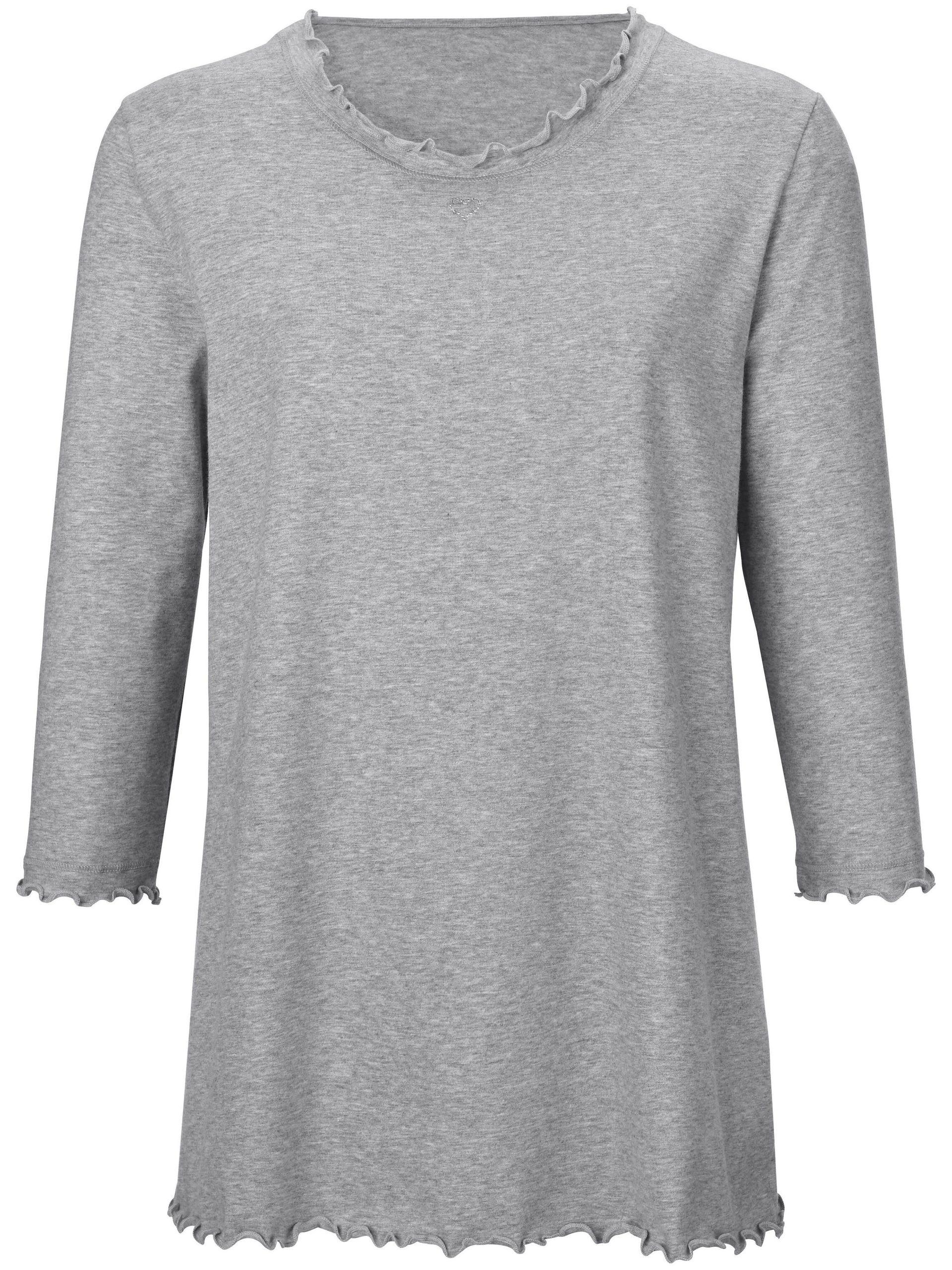 Pyjama van 100% katoen met 3/4-mouwen Van Peter Hahn grijs Kopen