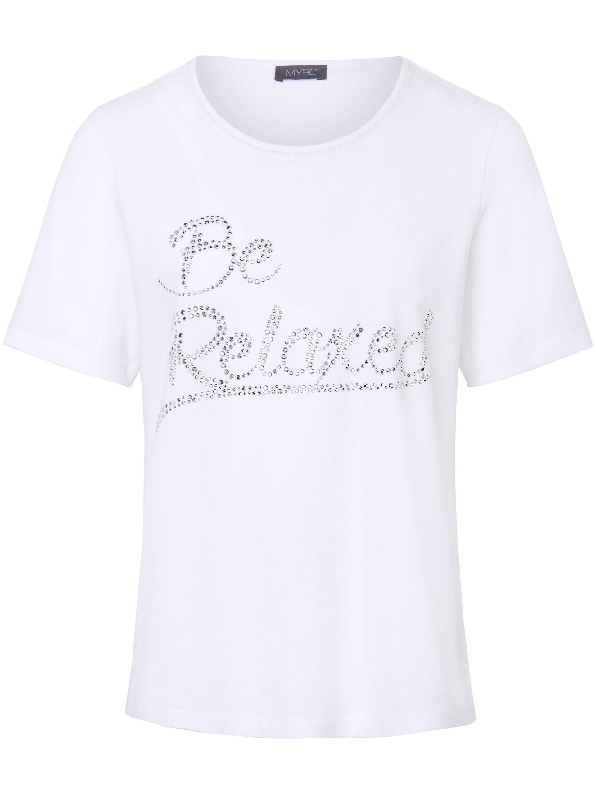 Shirt met ronde hals en korte mouwen Van MYBC wit Kopen