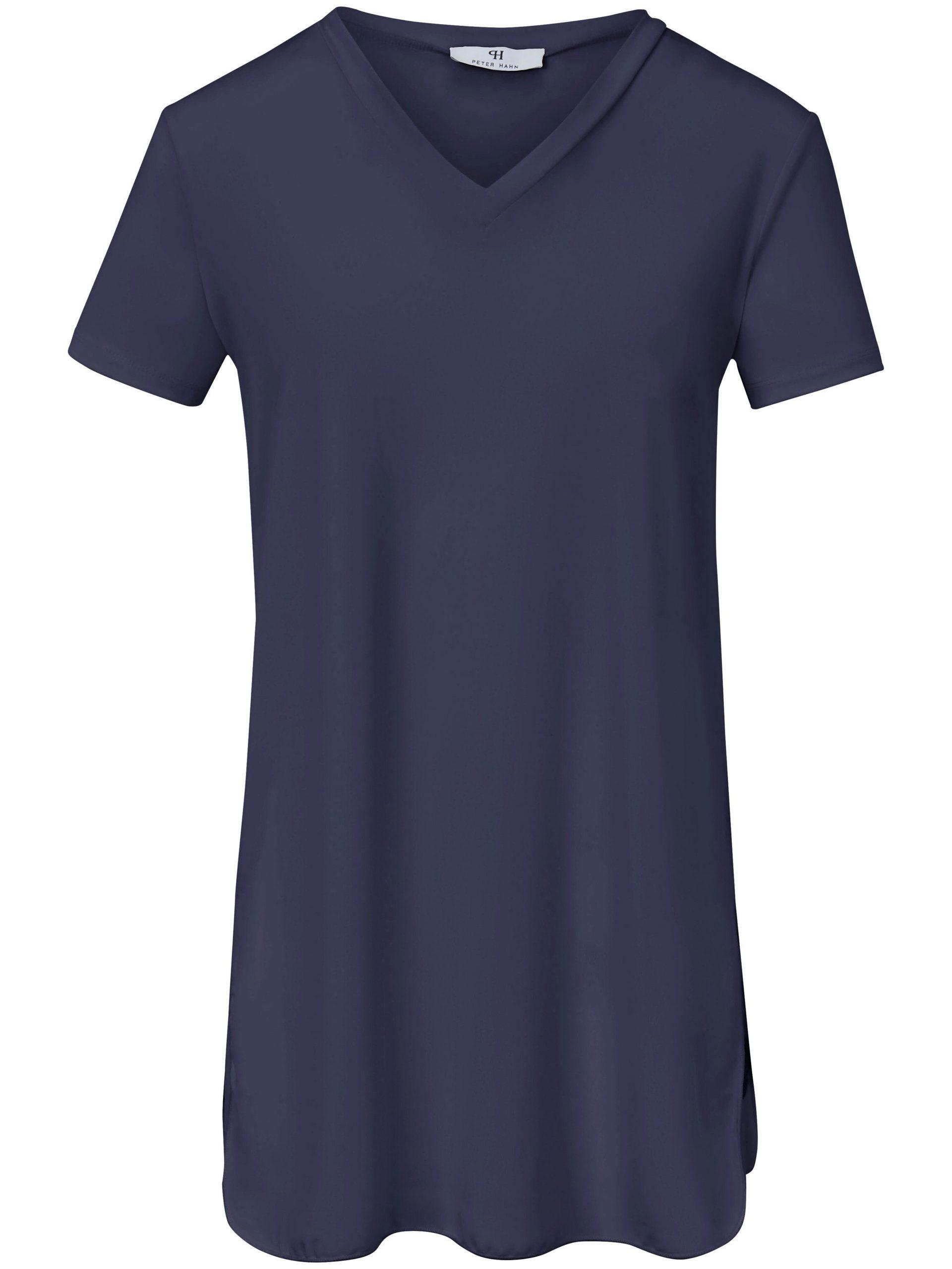 Lang shirt Van Peter Hahn blauw Kopen