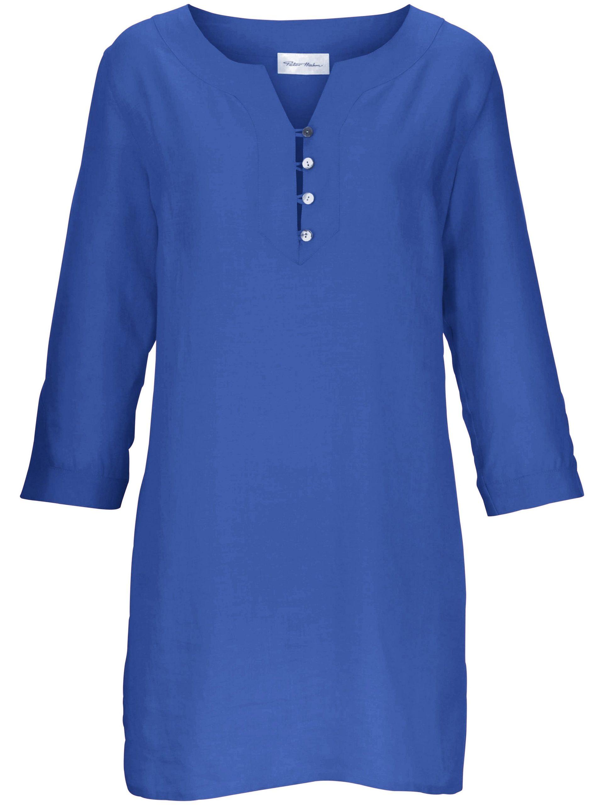 Tuniek van 100% linnen Van Peter Hahn blauw Kopen