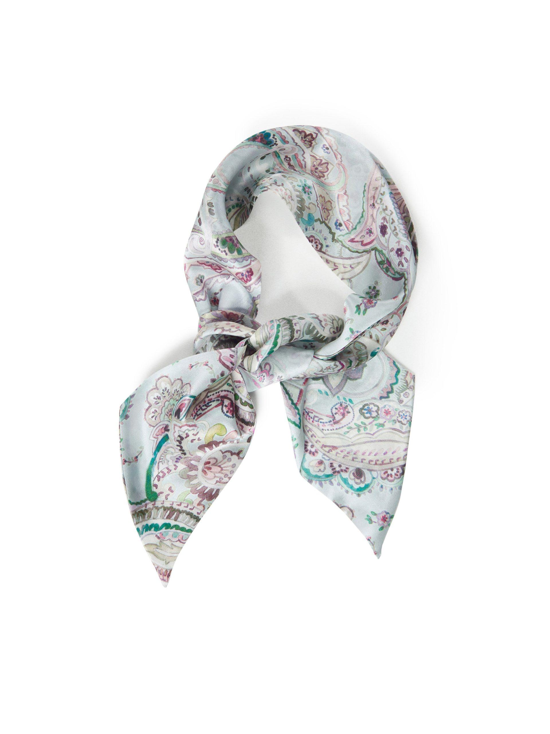 Sjaal van 100% zijde Van Uta Raasch groen Kopen