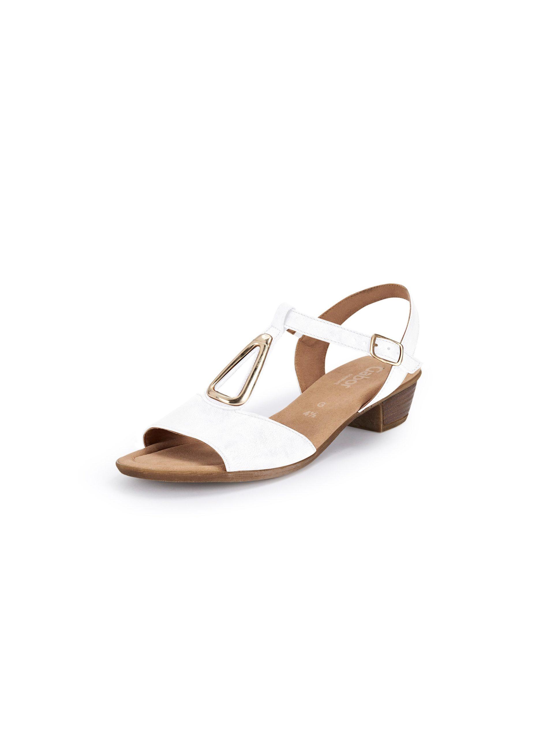 Sandaaltjes van leer Van Gabor Comfort wit Kopen