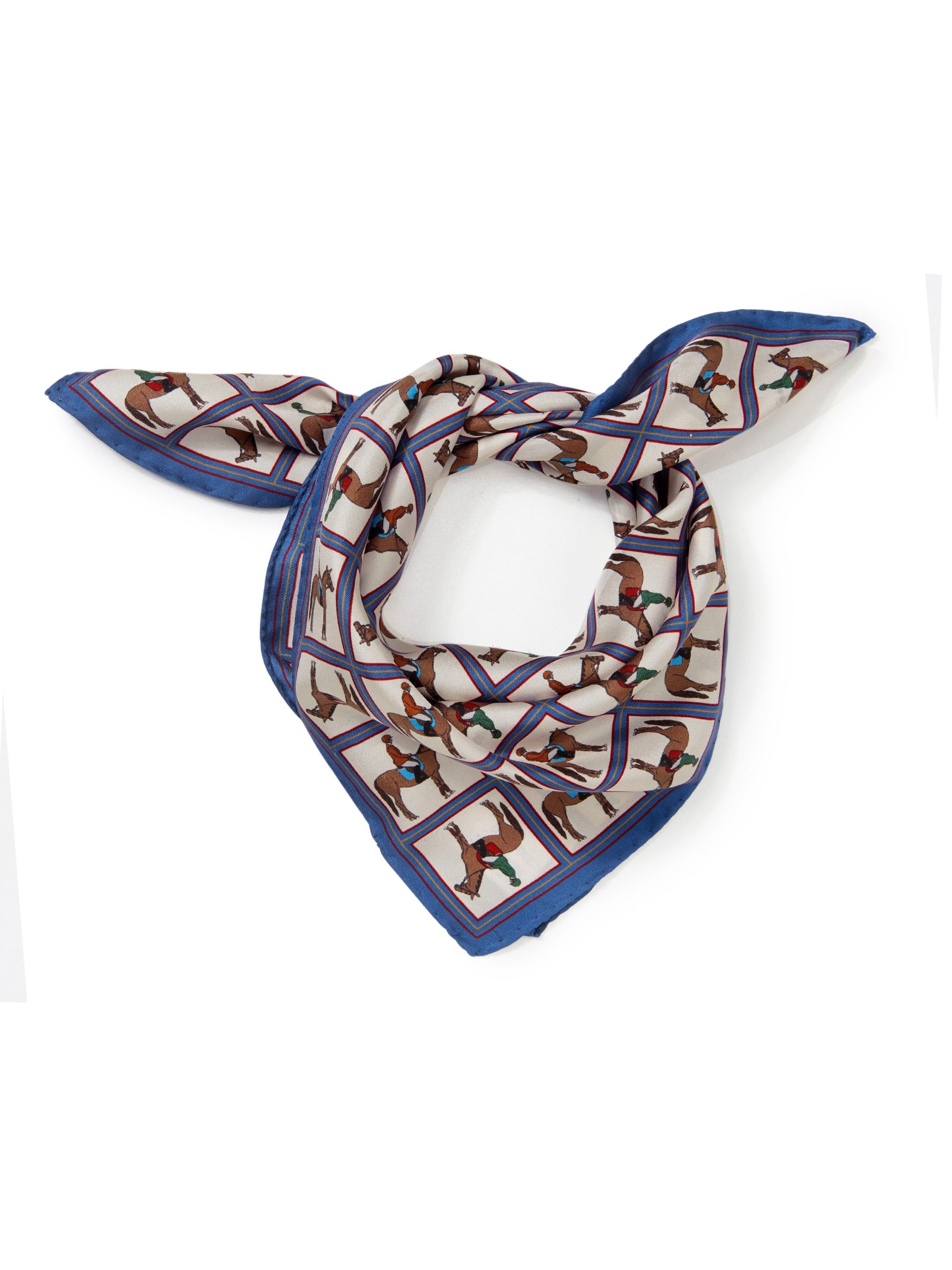 Sjaaltje van 100% zijde Van Peter Hahn multicolour Kopen