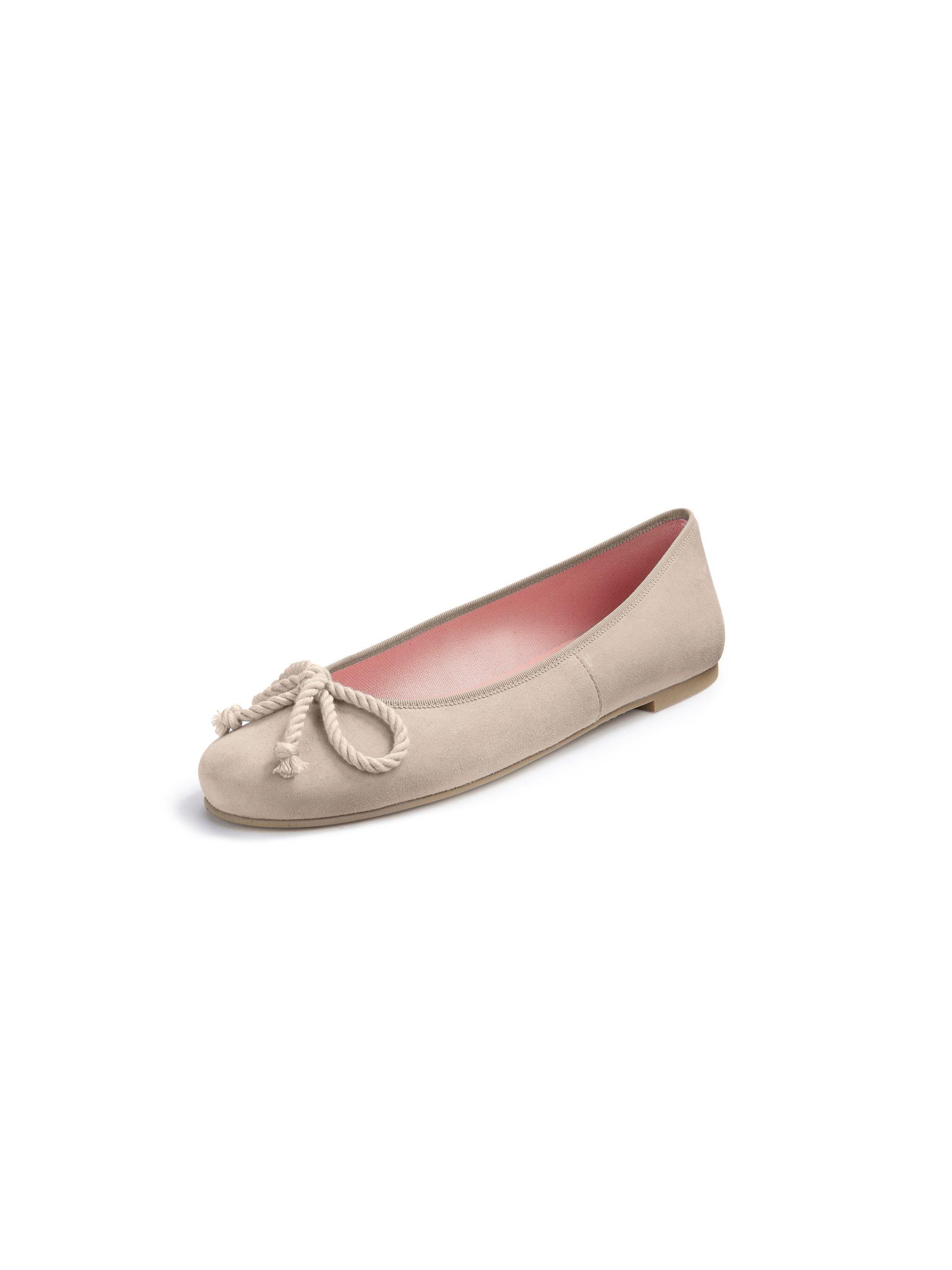 Ballerina's van geitensuèdeleer Van Pretty Ballerinas beige Kopen
