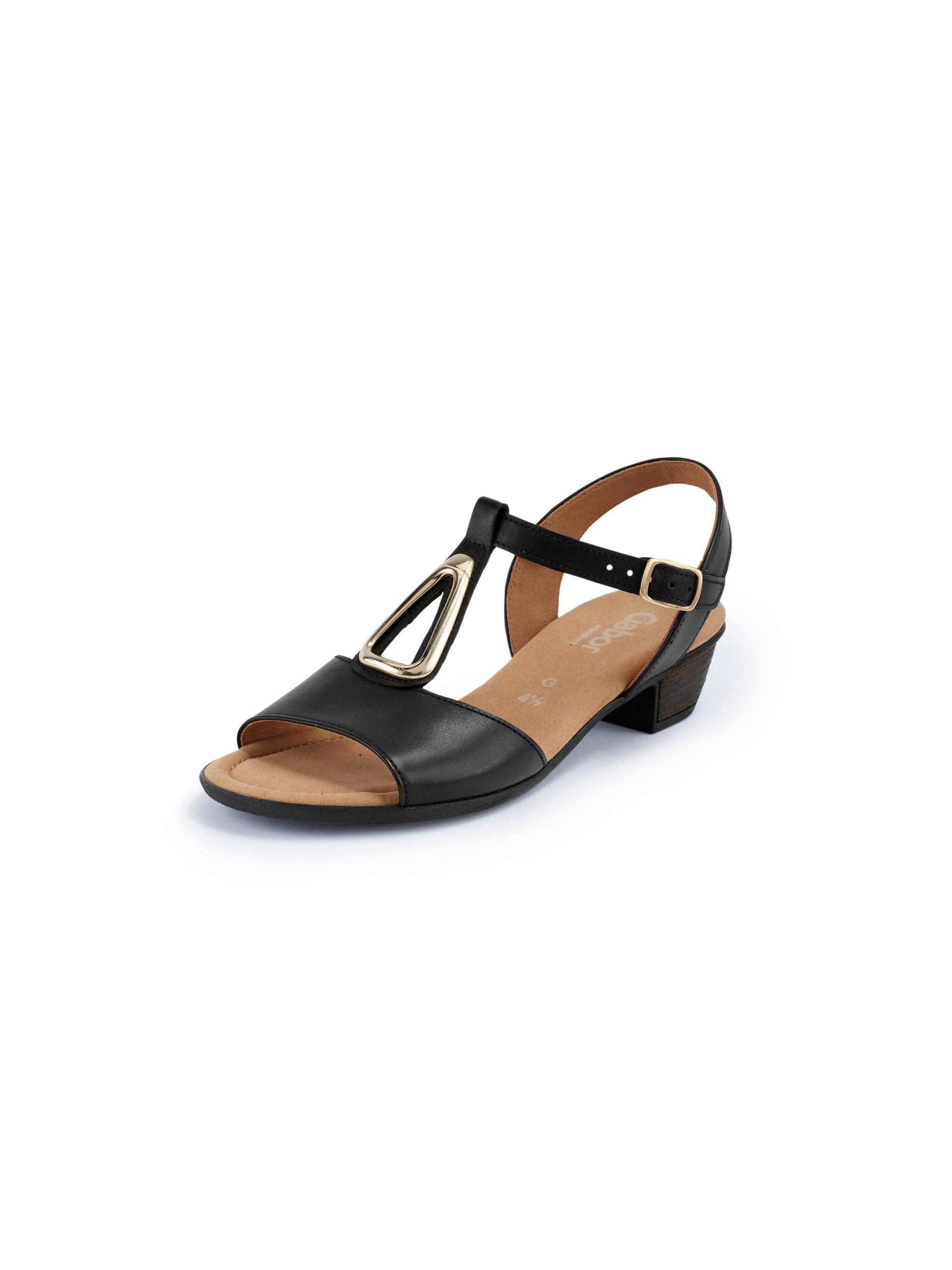 Sandaaltjes van leer Van Gabor Comfort zwart Kopen