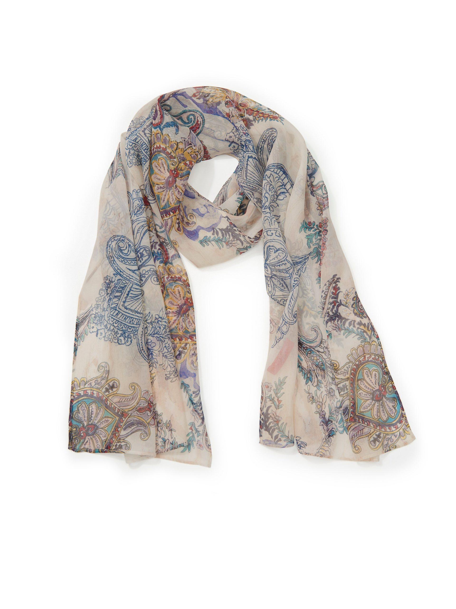 Sjaal van 100% zijde Van Laura Biagiotti Donna multicolour Kopen