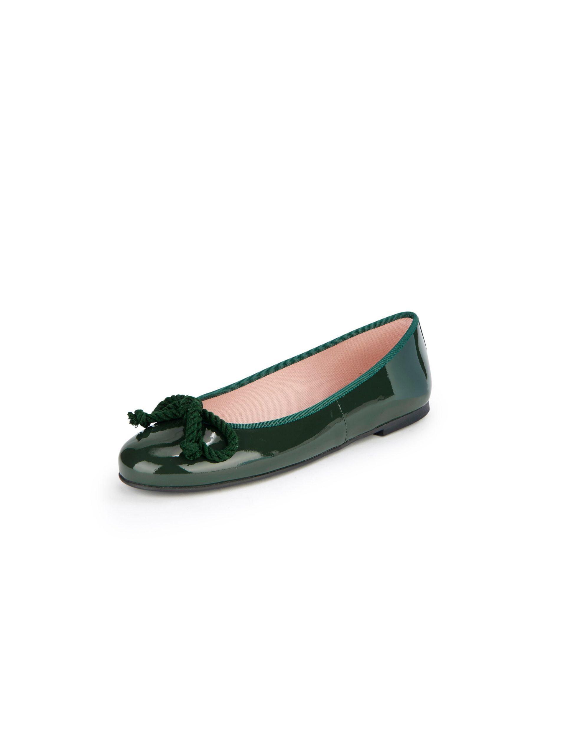 Ballerina's van kalfslakleer Van Pretty Ballerinas groen Kopen