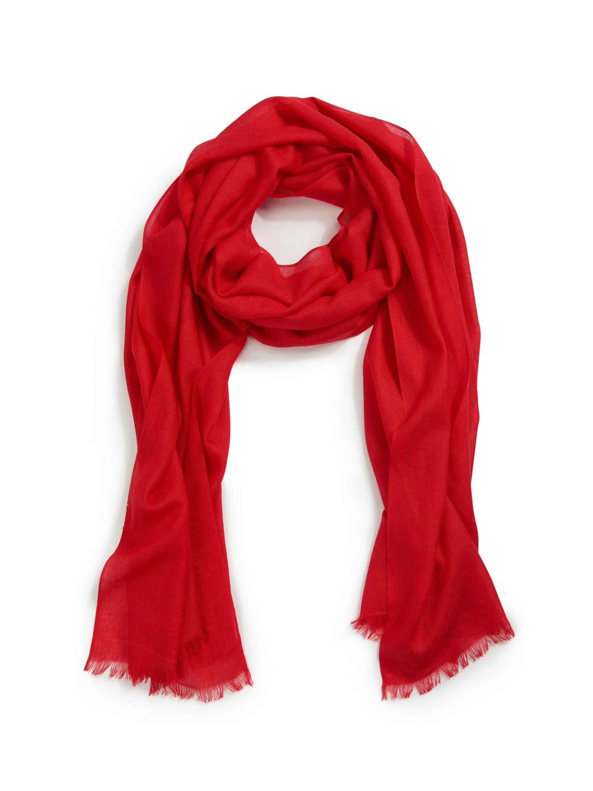 Sjaal Van Uta Raasch rood Kopen