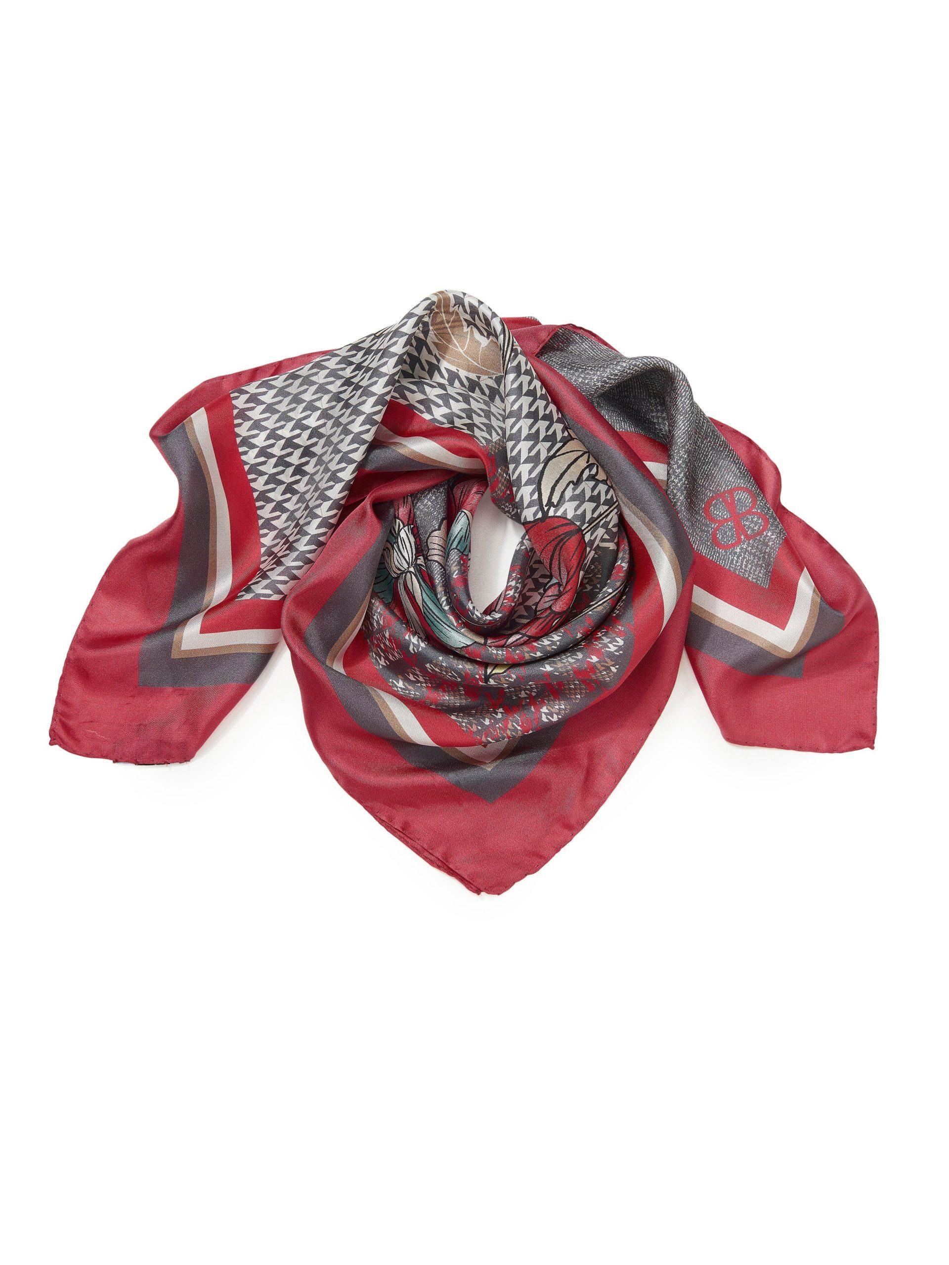 Sjaal van 100% zijde Van Basler multicolour Kopen