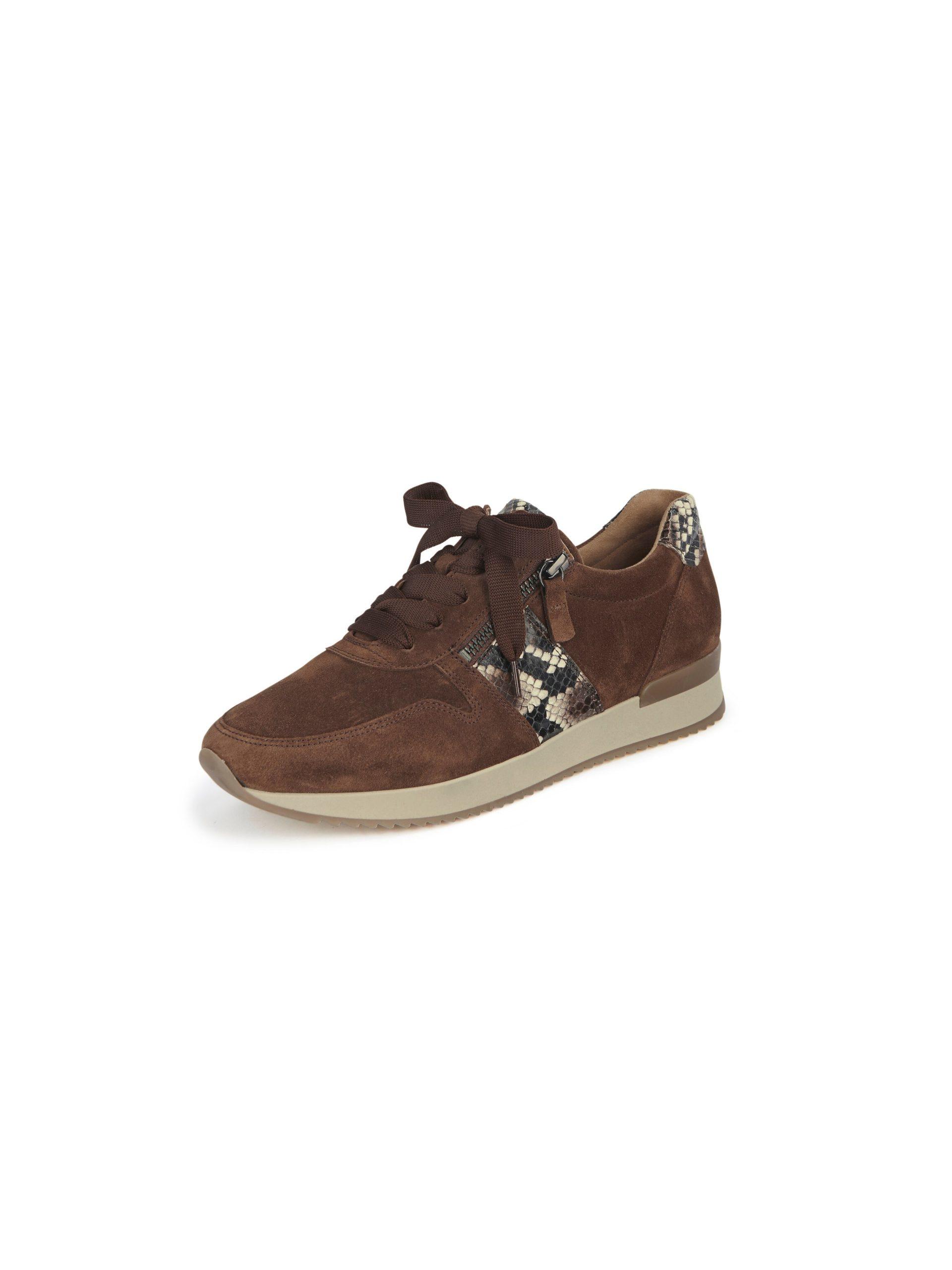 Sneakers van suèdeleer in Best fitting-uitvoering Van Gabor bruin Kopen