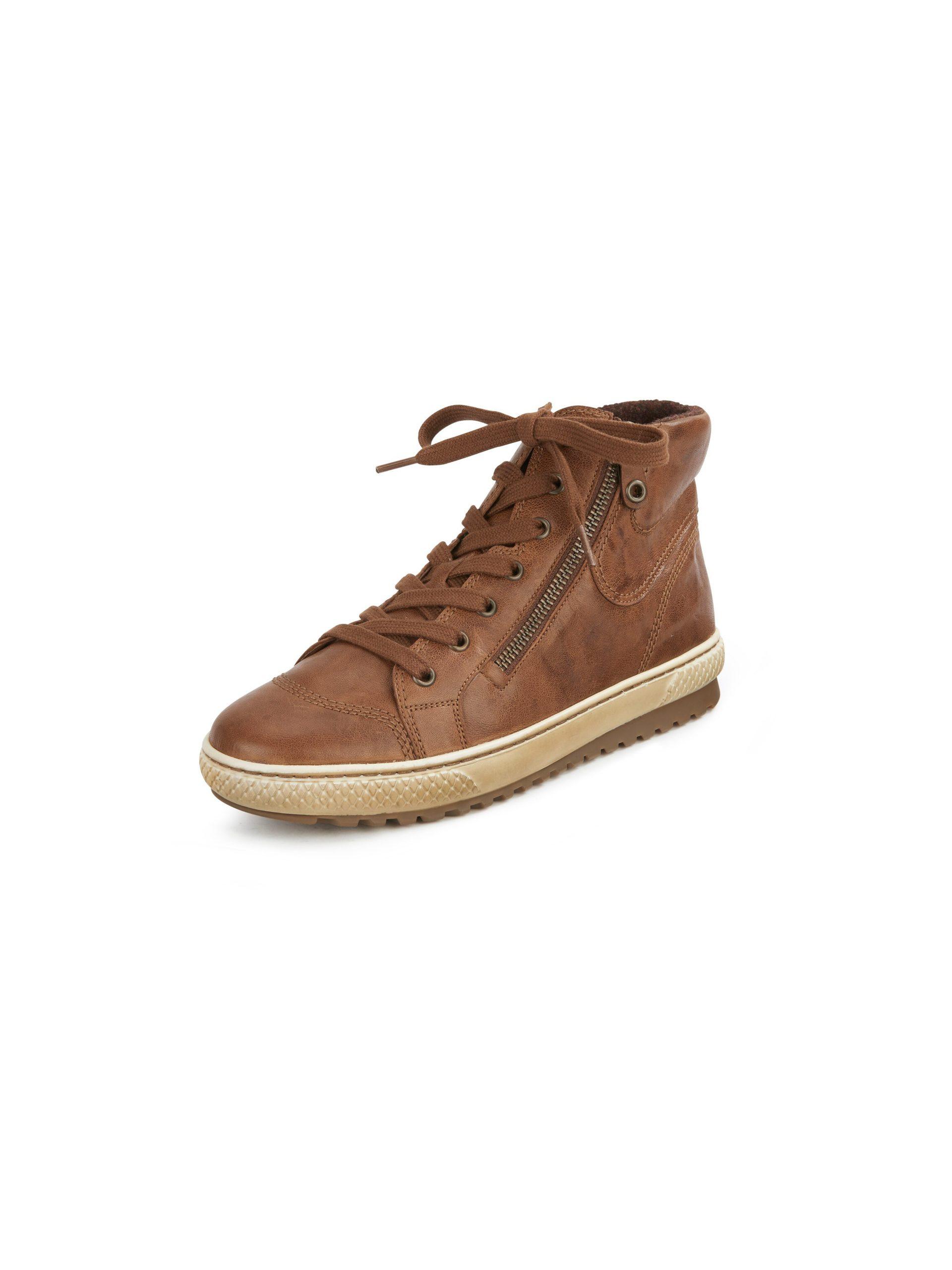 Sneakers van schaapsnappaleer met rubberzool Van Gabor bruin Kopen