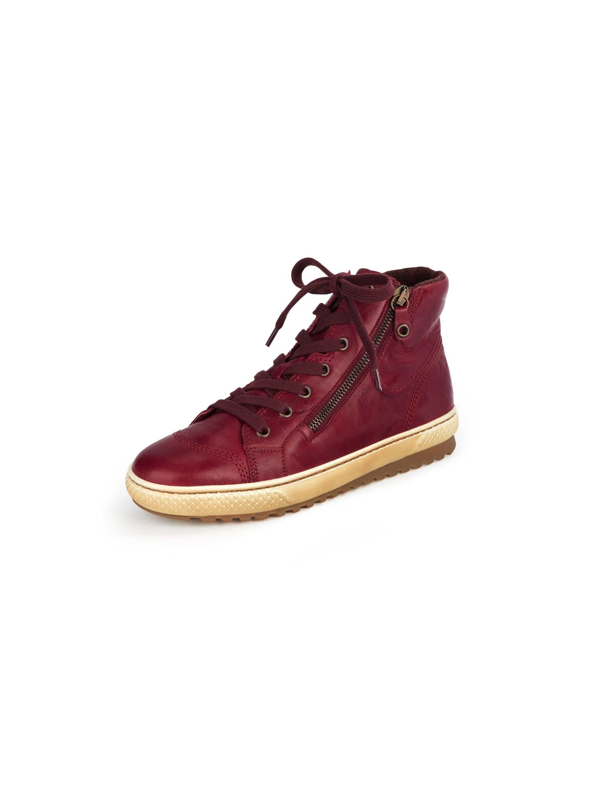 Sneakers van schaapsnappaleer met rubberzool Van Gabor rood Kopen