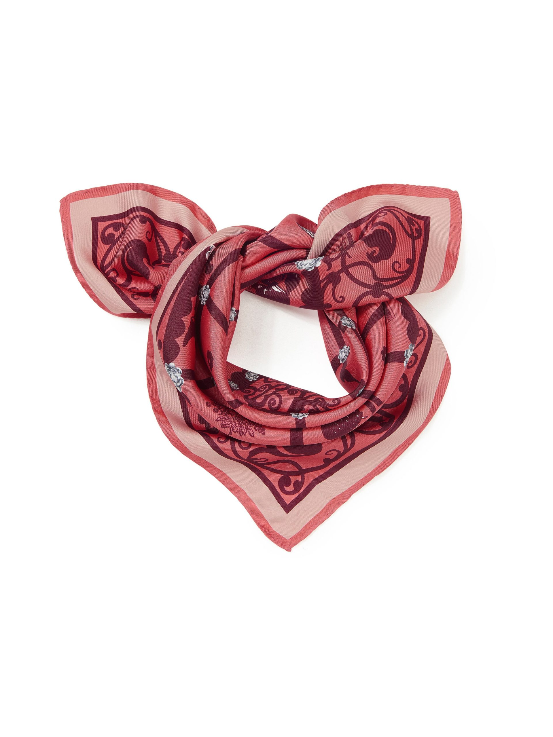 Nickysjaal van 100% zijde Van Roeckl roze Kopen