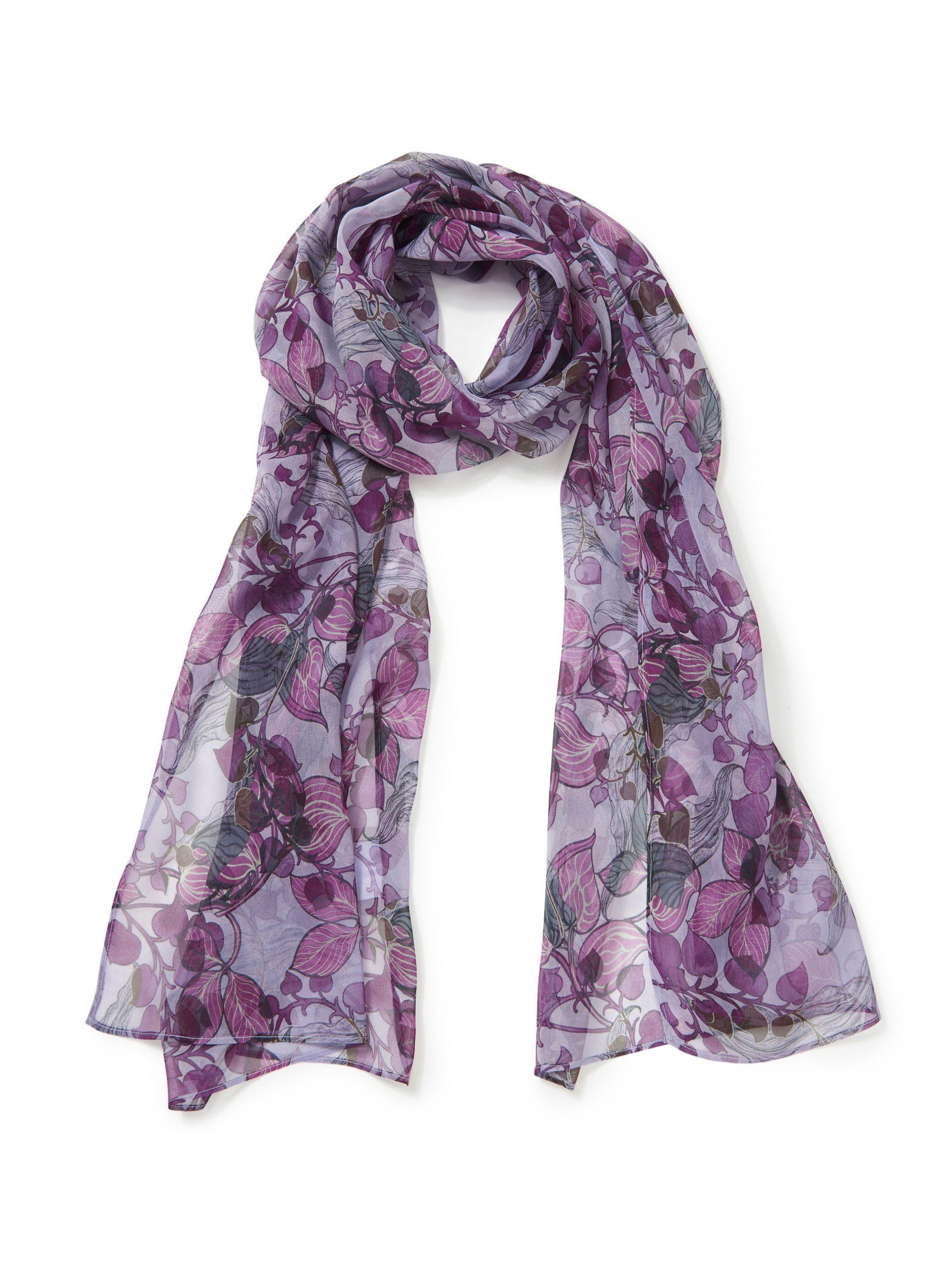 Sjaal van 100% zijde Van Uta Raasch paars Kopen
