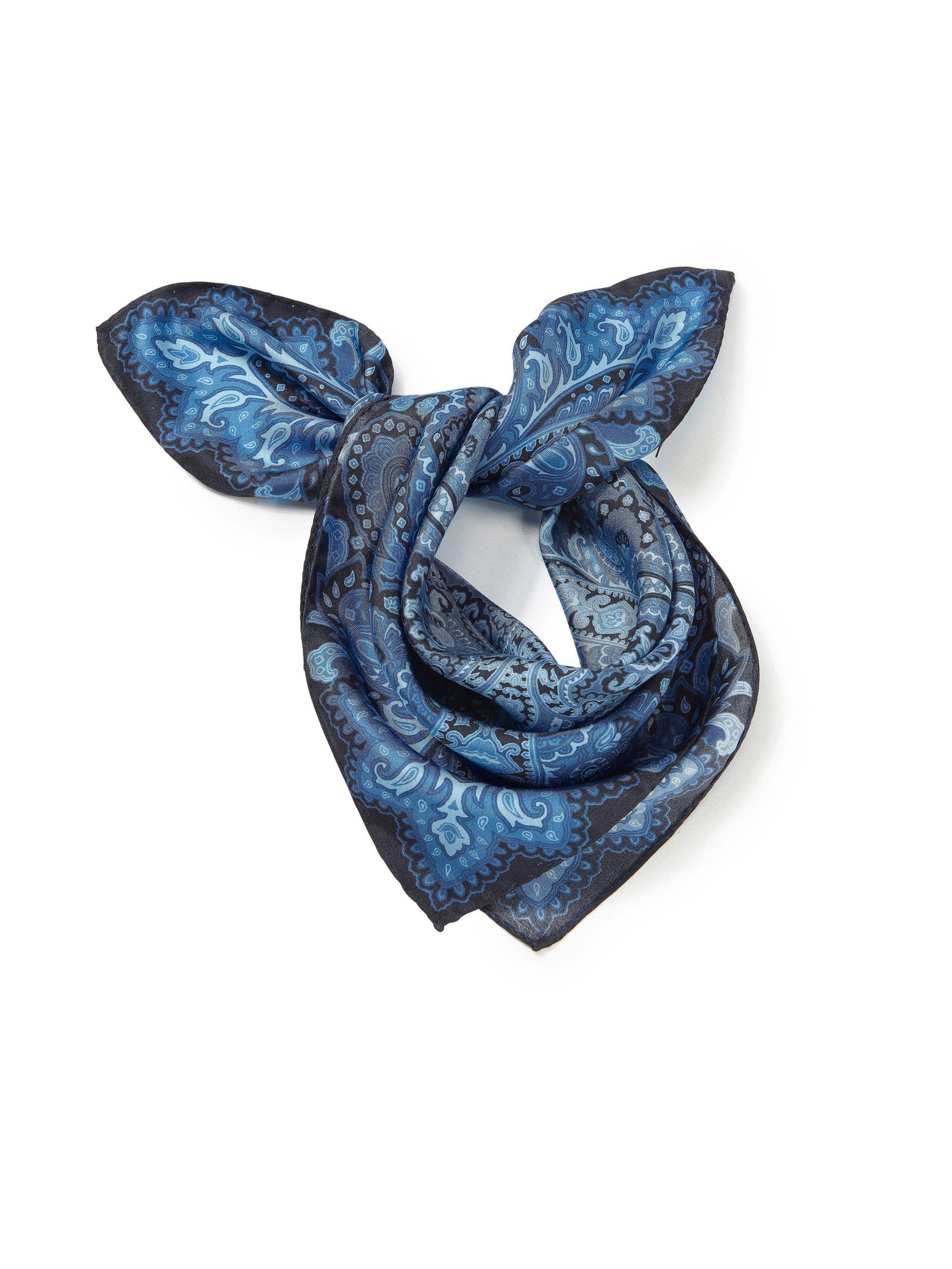 Sjaaltje van 100% zijde Van Uta Raasch blauw Kopen