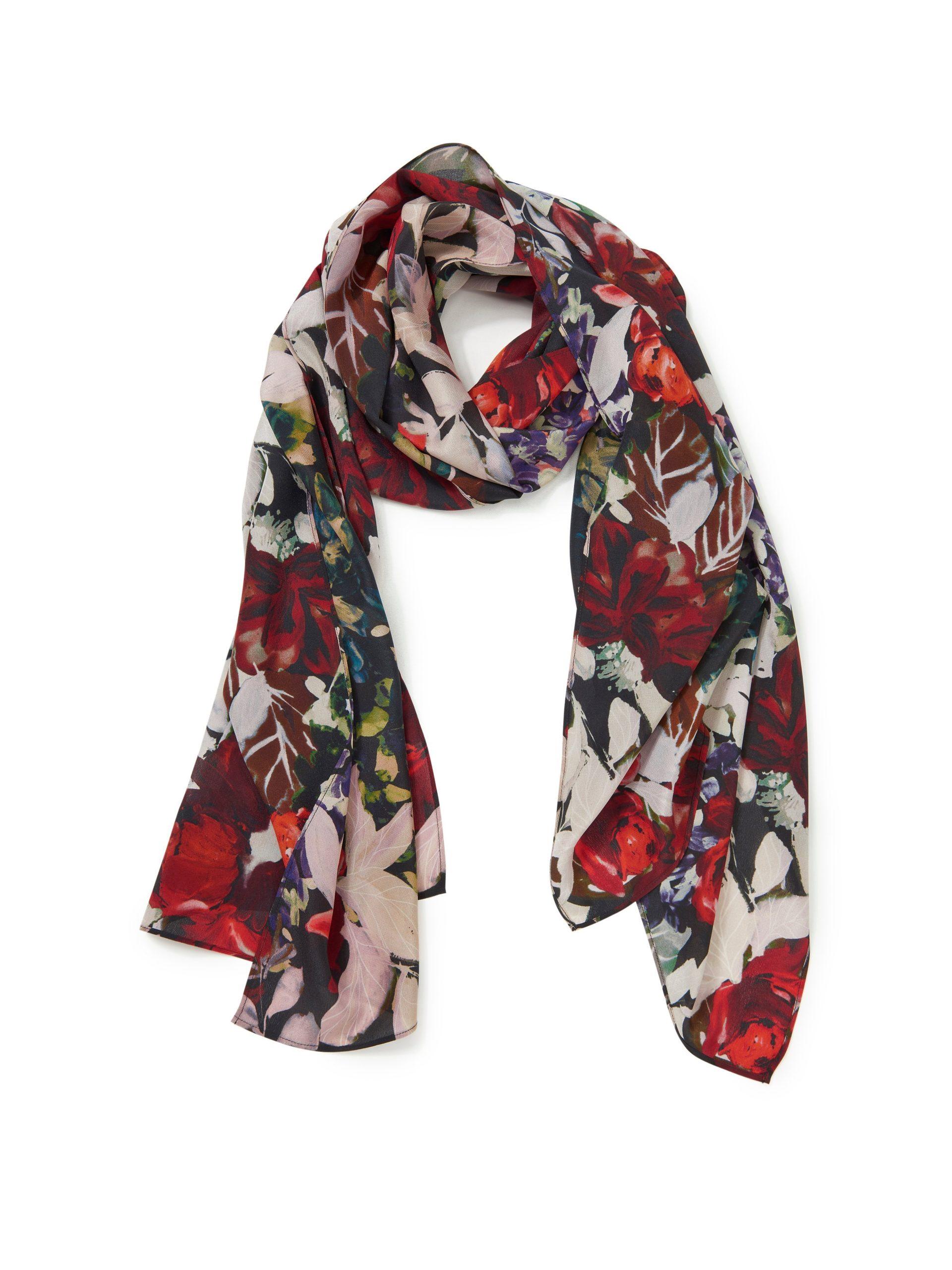 Sjaal van 100% zijde Van Uta Raasch multicolour Kopen