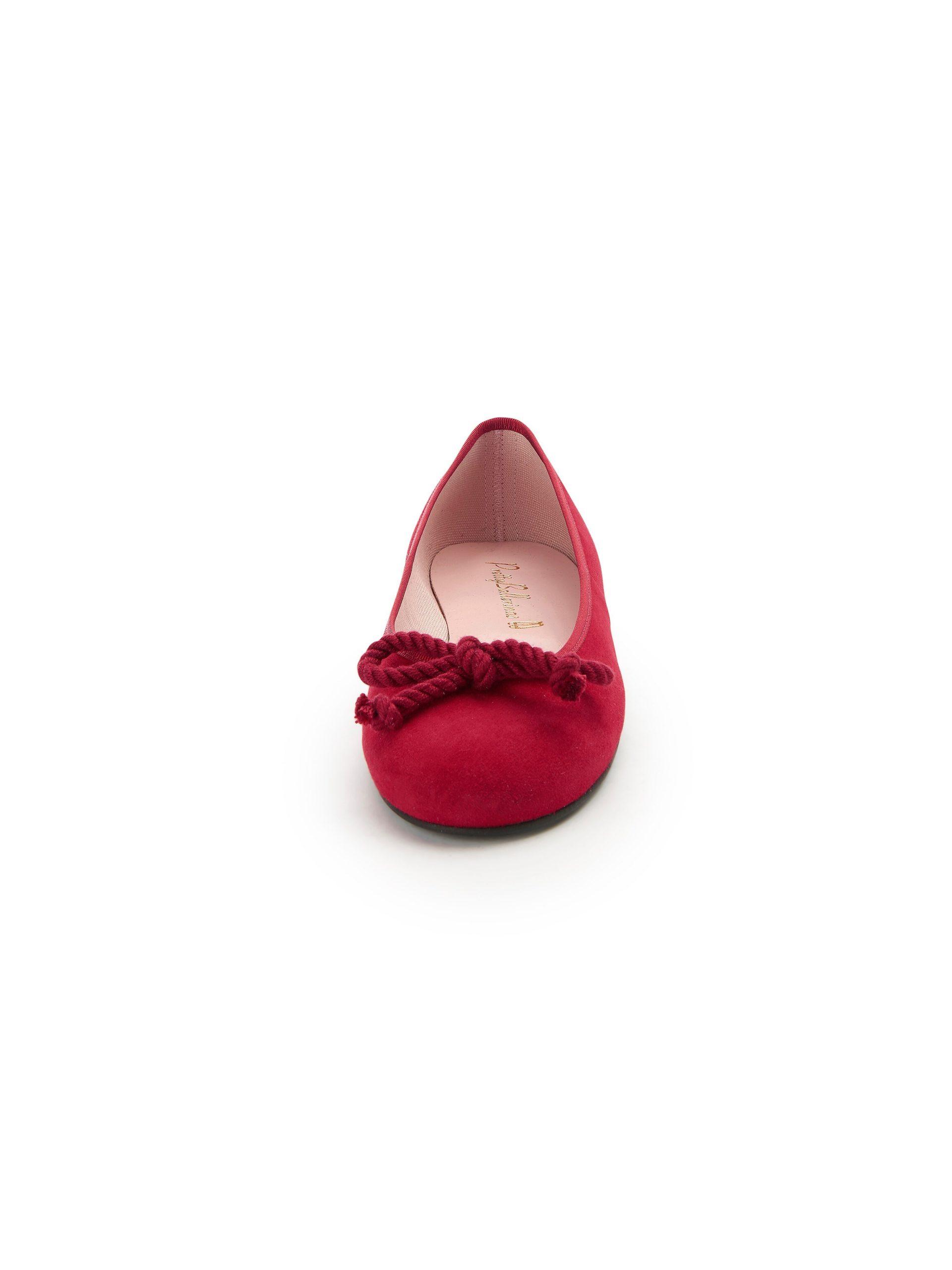 Ballerina's van kalfslakleer Van Pretty Ballerinas rood Kopen
