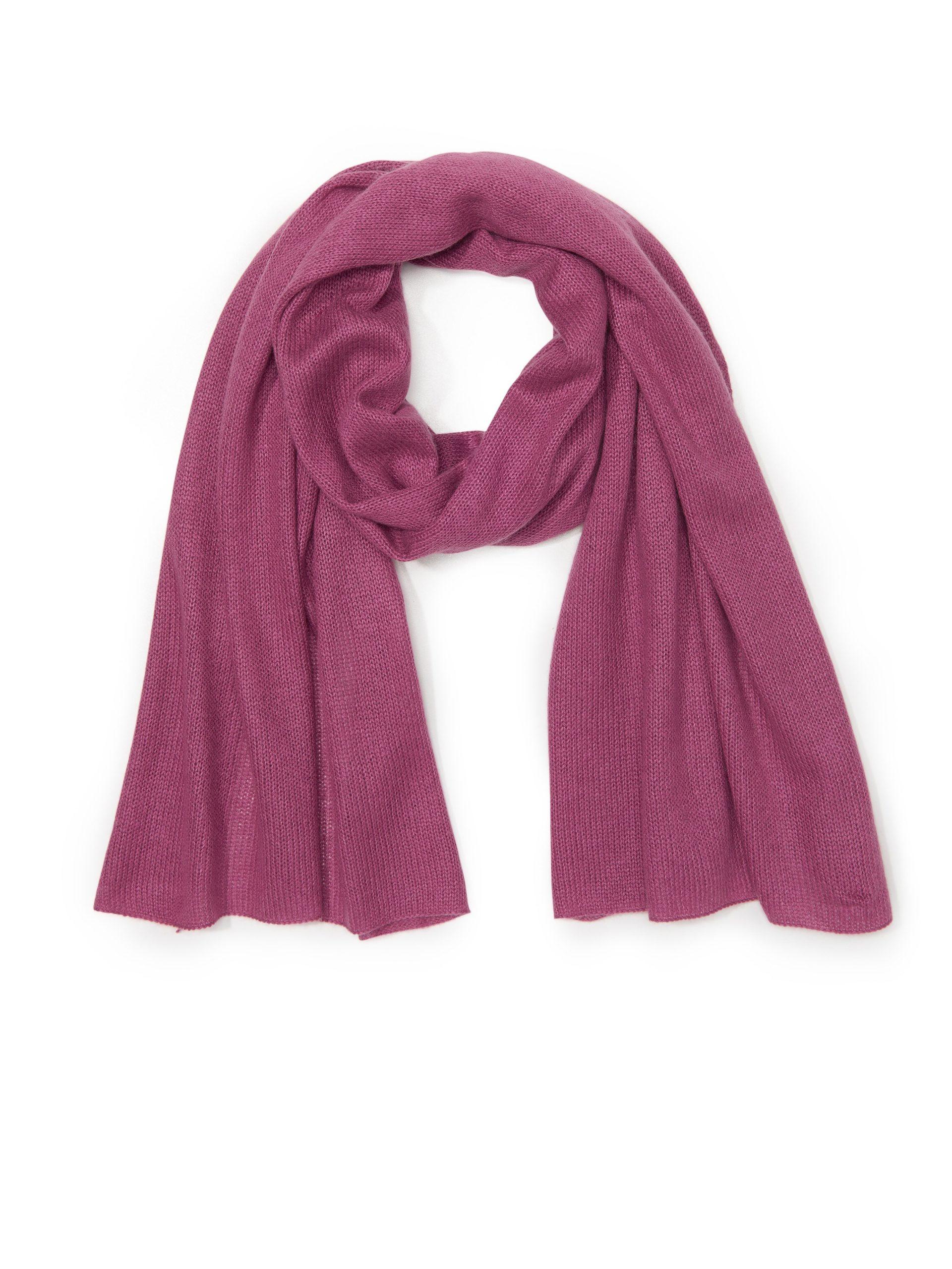 Sjaal van zijde en kasjmier Van Peter Hahn roze Kopen