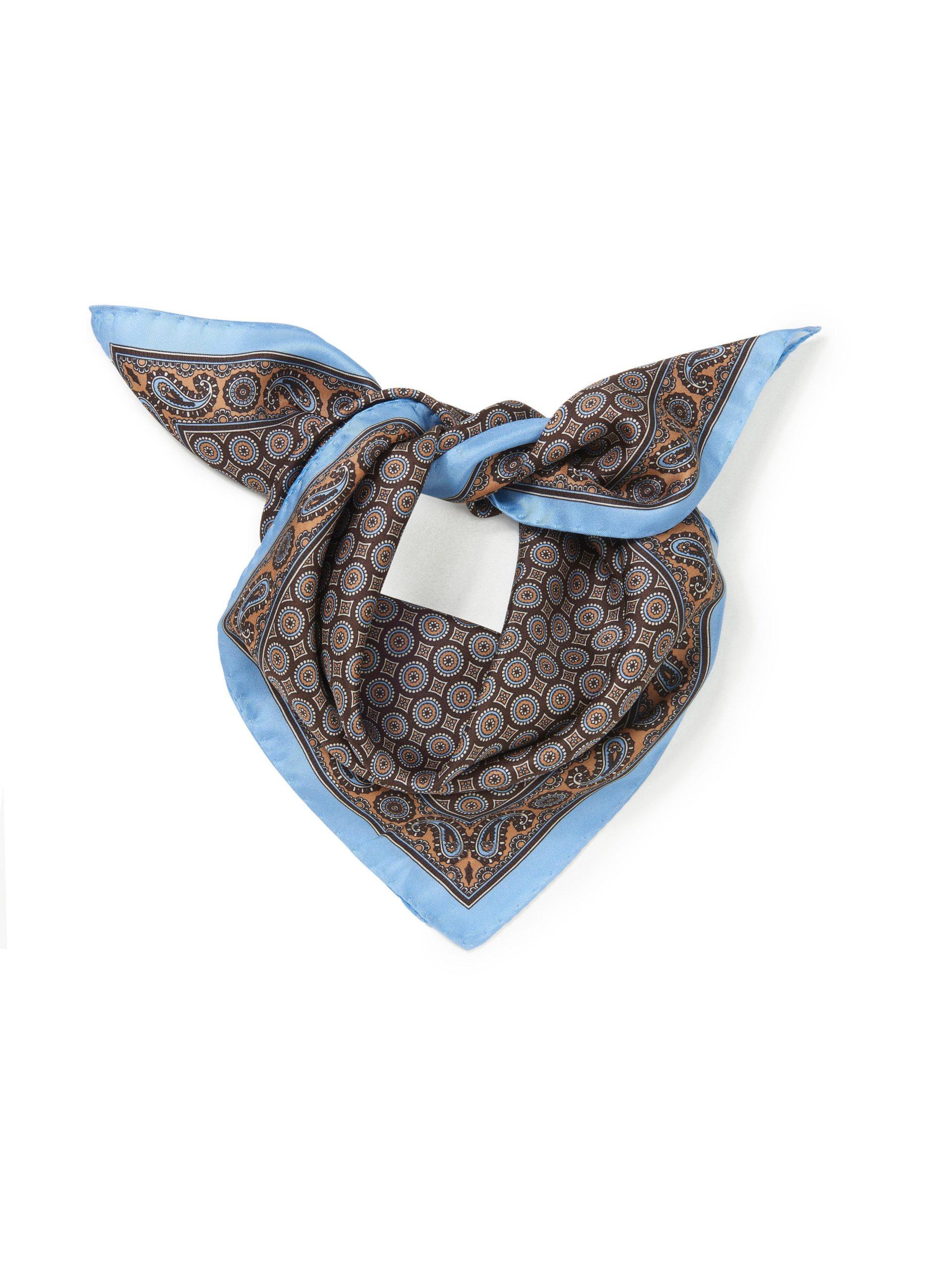 Sjaaltje van 100% zijde Van Anna Aura blauw Kopen