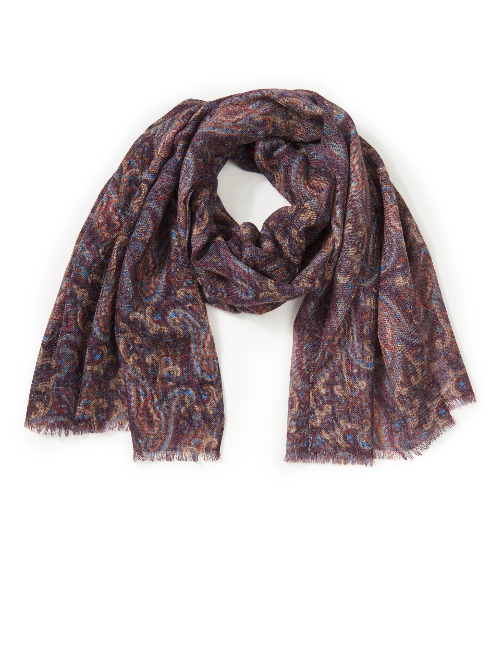 Sjaal van 100% scheerwol Van Emilia Lay multicolour Kopen