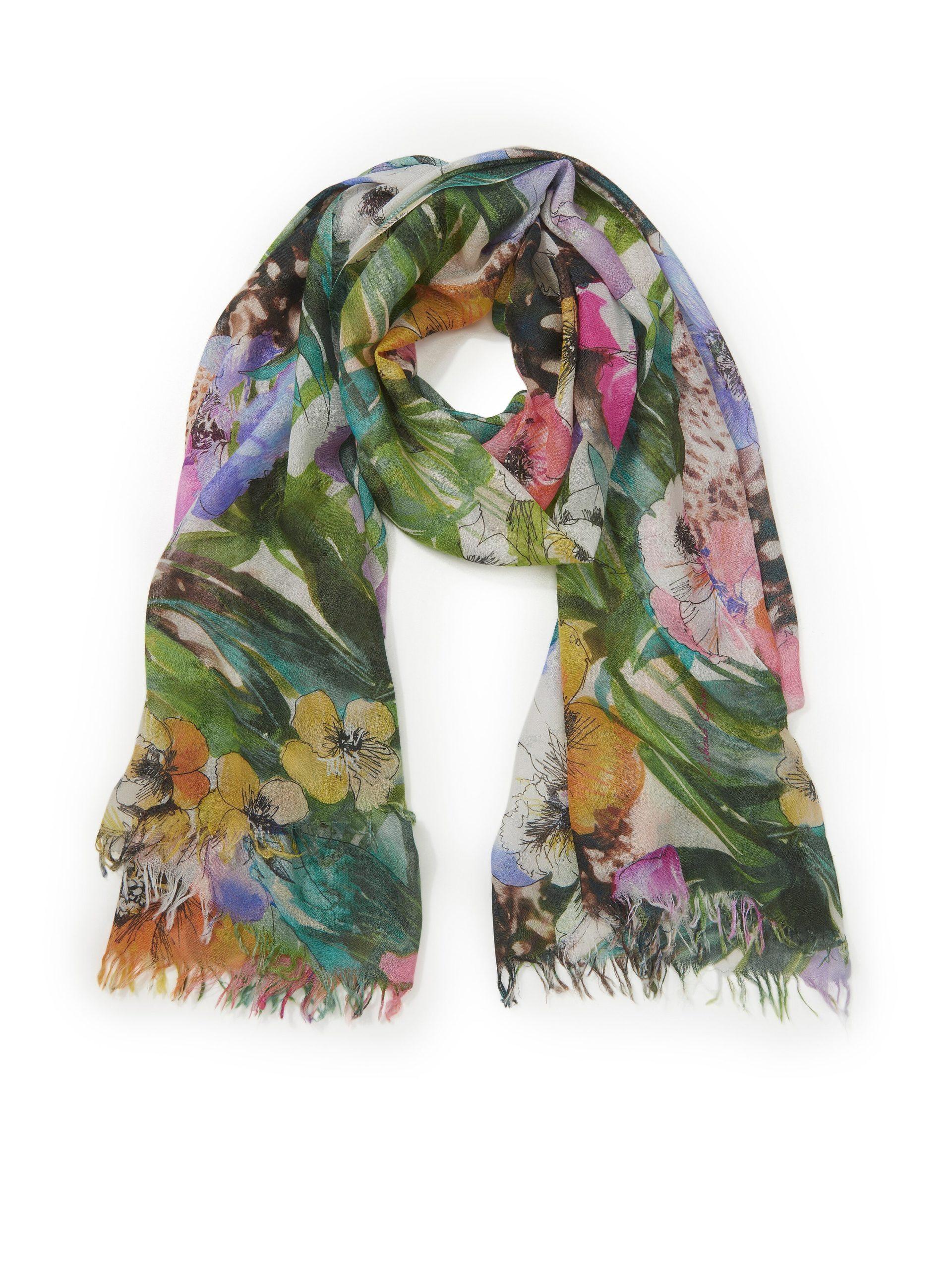 Sjaal van zijde en kasjmier Van Richard Grand multicolour Kopen