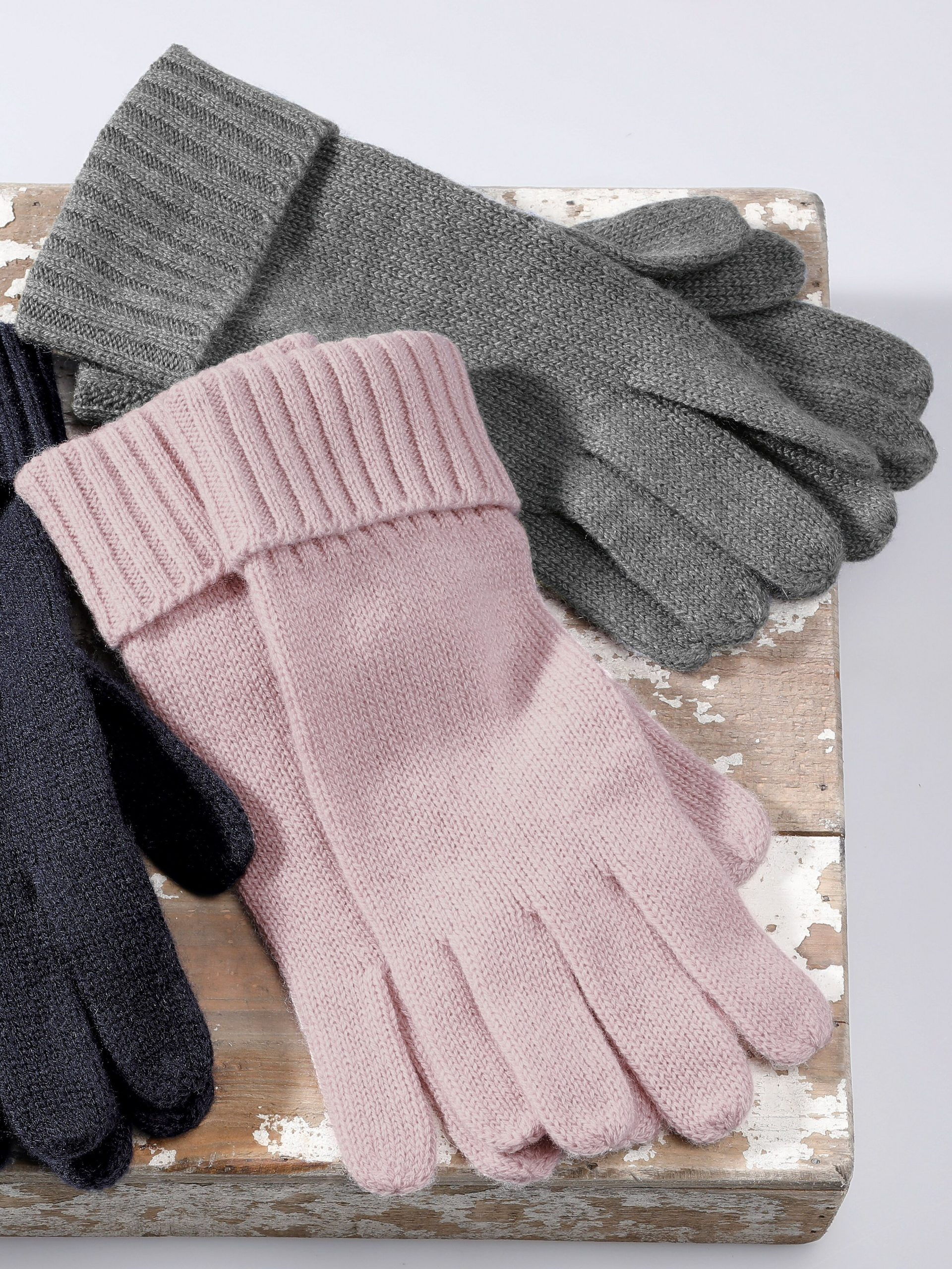 Handschoenen van 100% kasjmier Van Peter Hahn Cashmere lichtroze Kopen