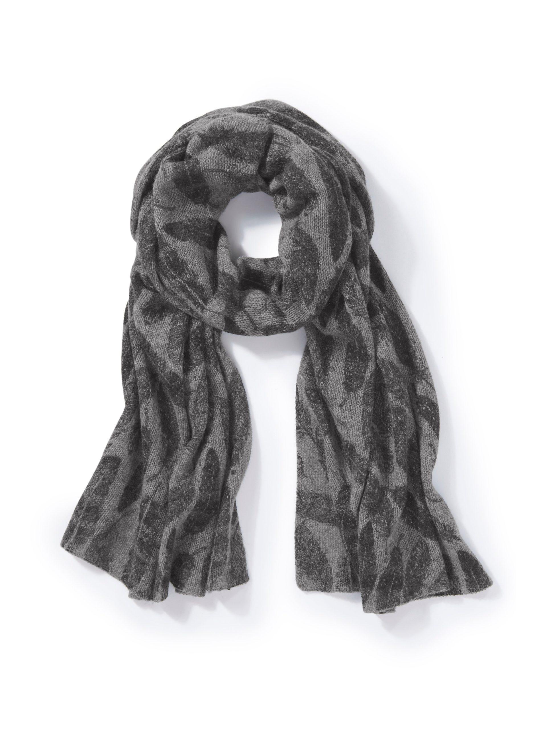 Sjaal van 100% kasjmier Van Peter Hahn Cashmere grijs Kopen