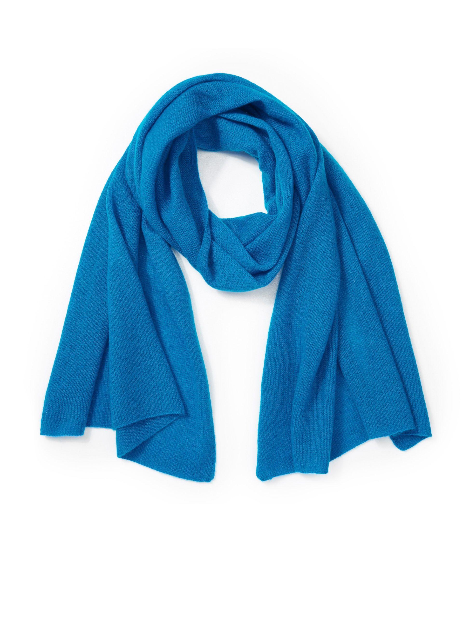 Sjaal van 100% kasjmier Van Peter Hahn Cashmere turquoise Kopen