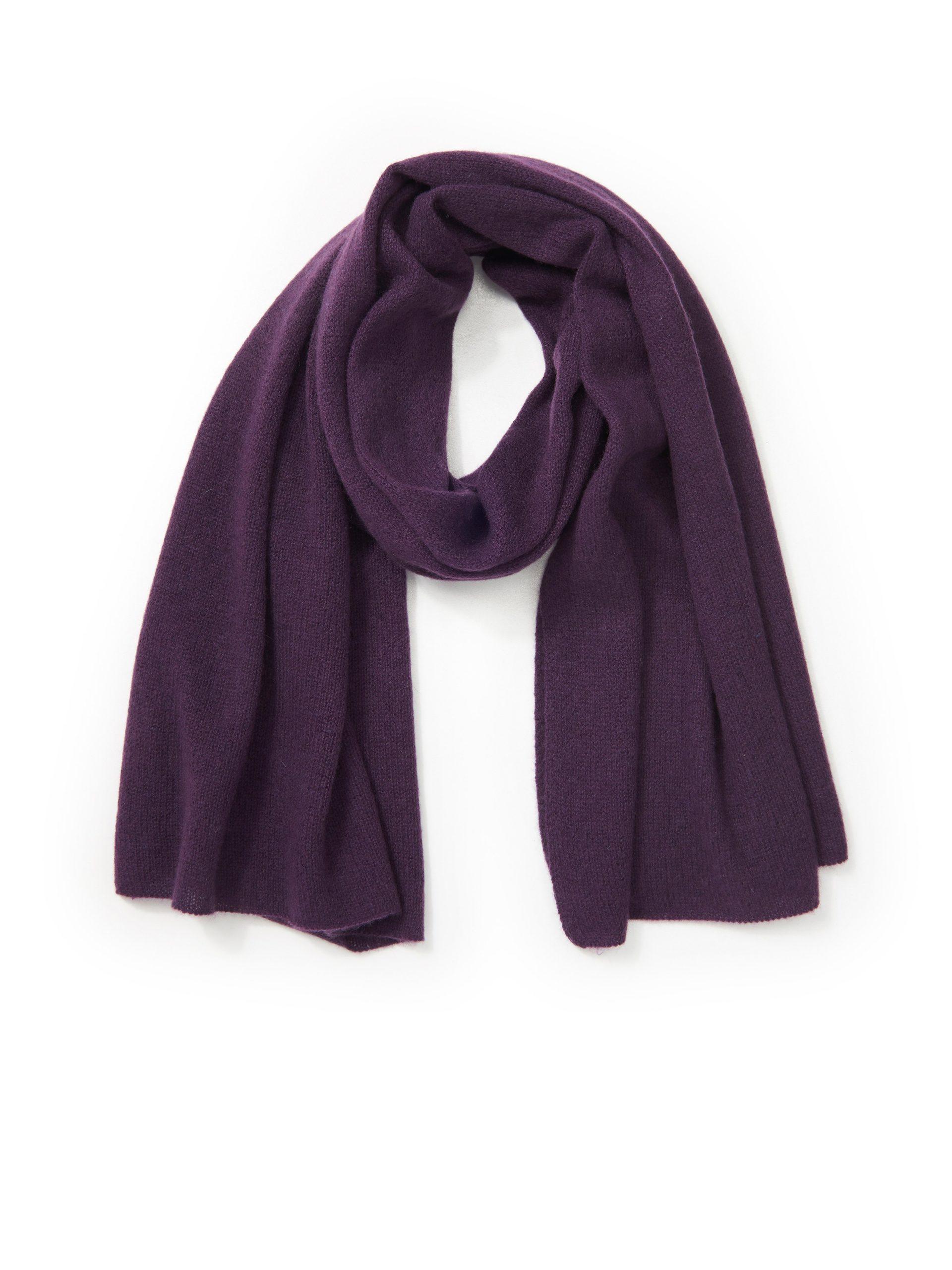 Sjaal van 100% kasjmier Van Peter Hahn Cashmere paars Kopen