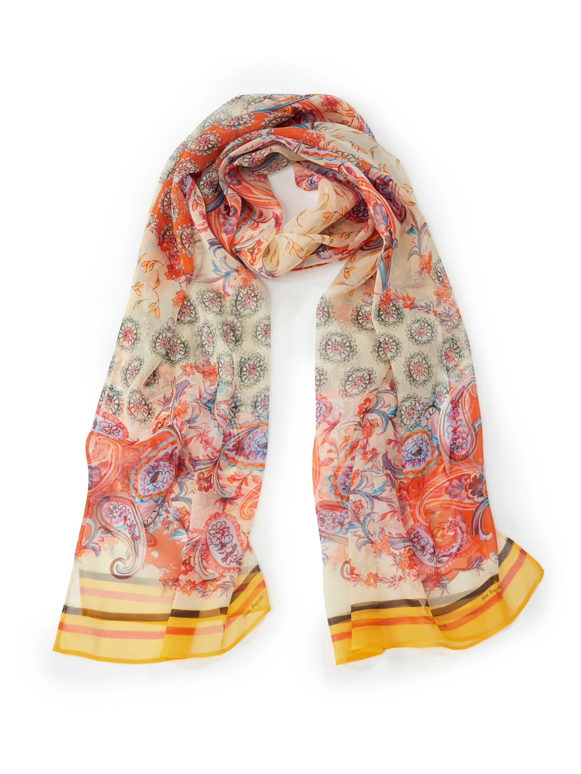 Sjaal van 100% zijde Van Laura Biagiotti Roma multicolour Kopen