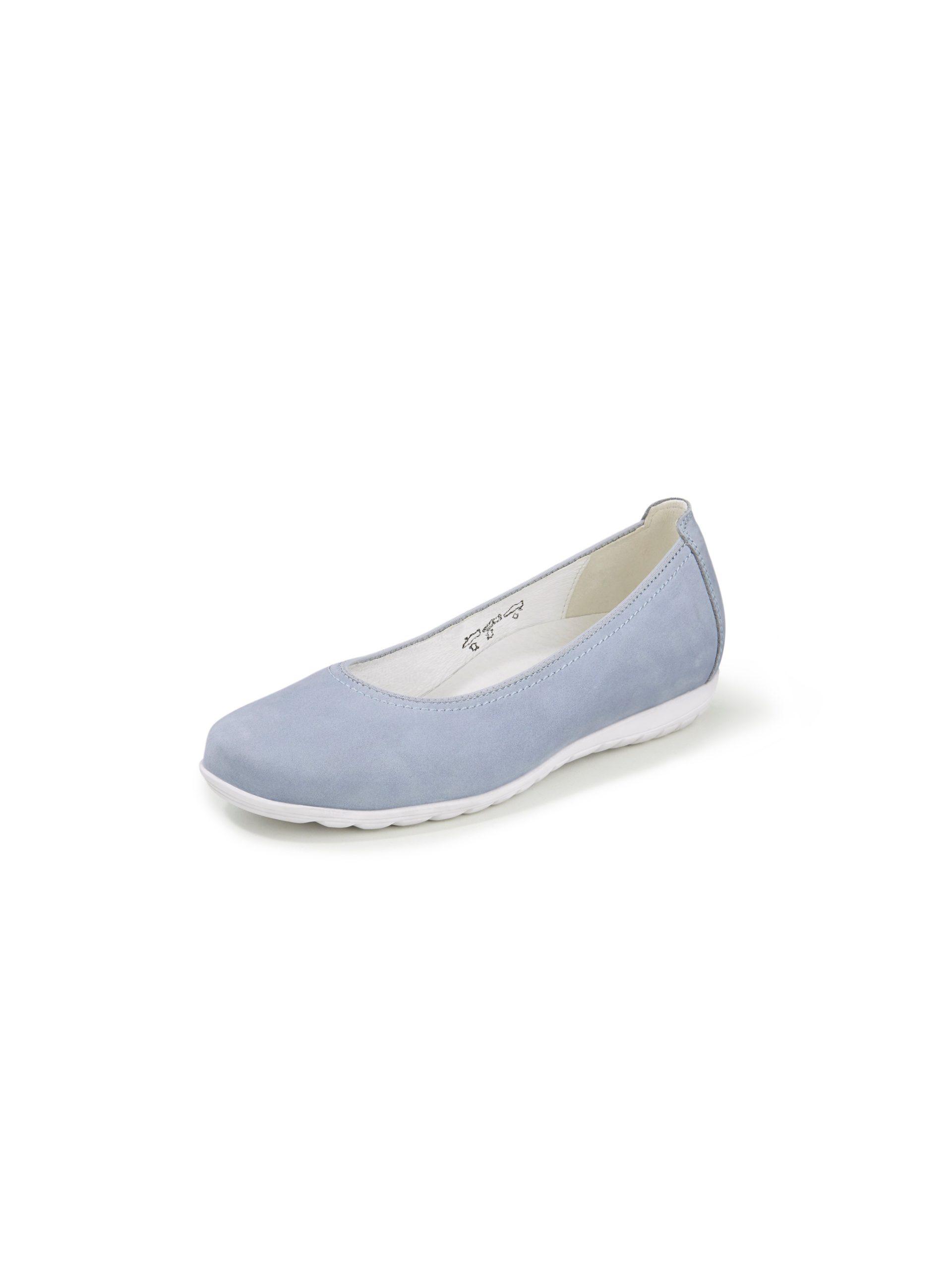 Ballerina's Hesima van rundleer Van Waldläufer blauw Kopen