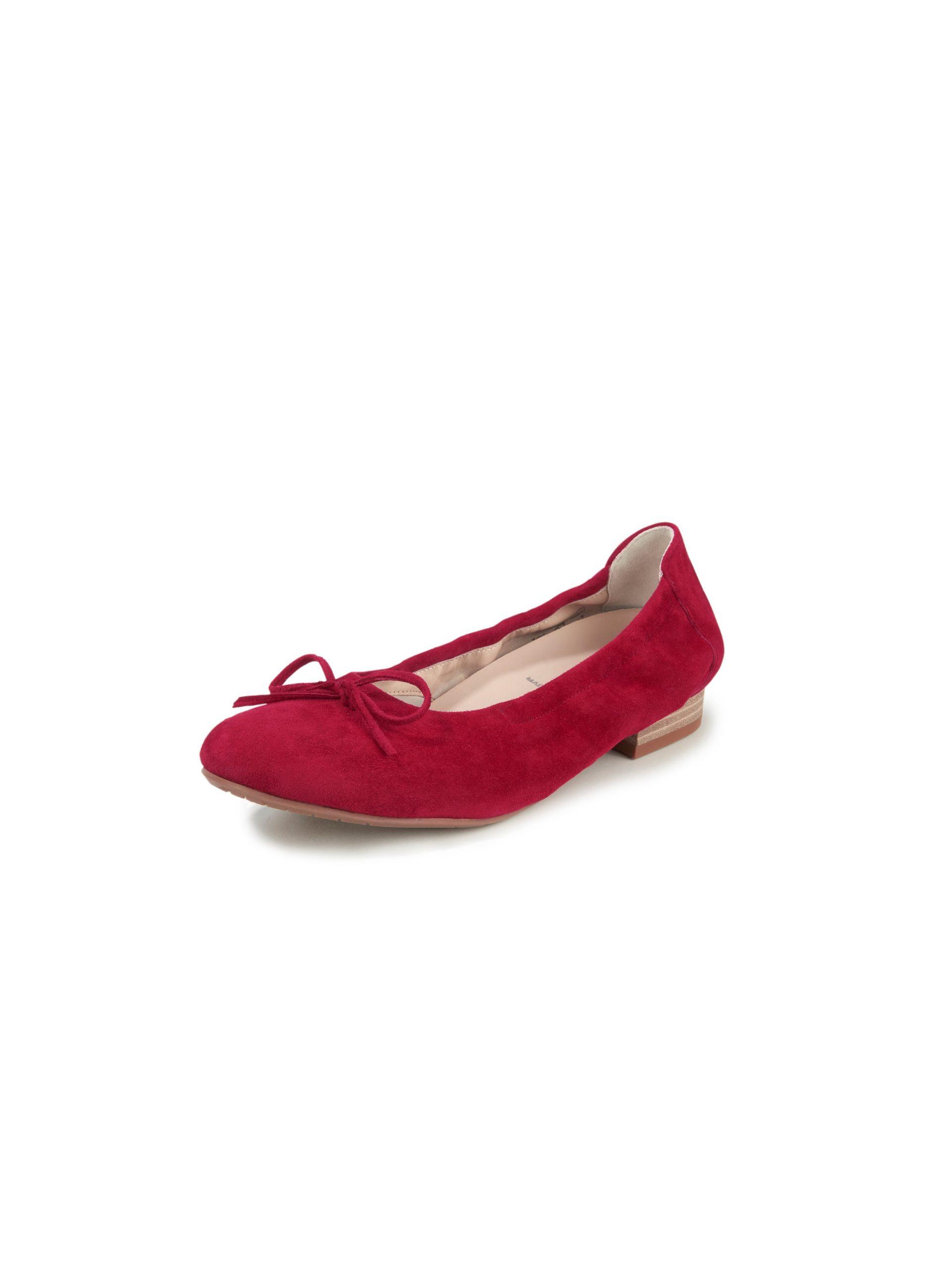 Ballerina's van geitensuèdeleer Van Semler rood Kopen