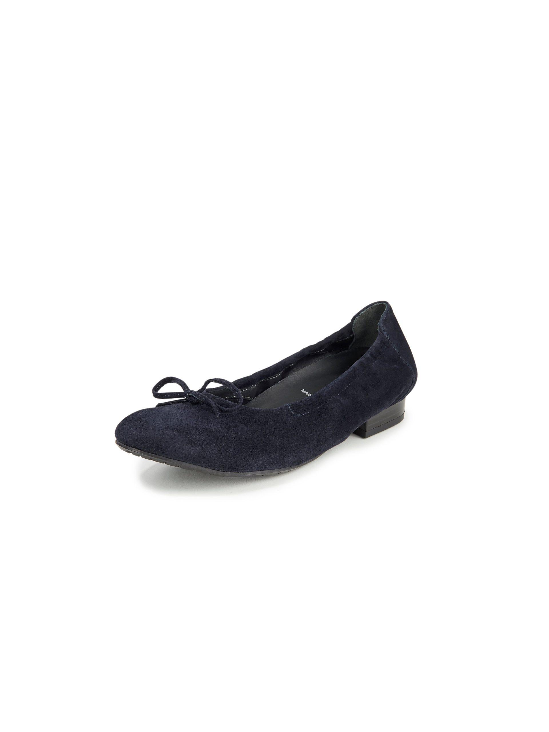 Ballerina's van geitensuèdeleer Van Semler blauw Kopen