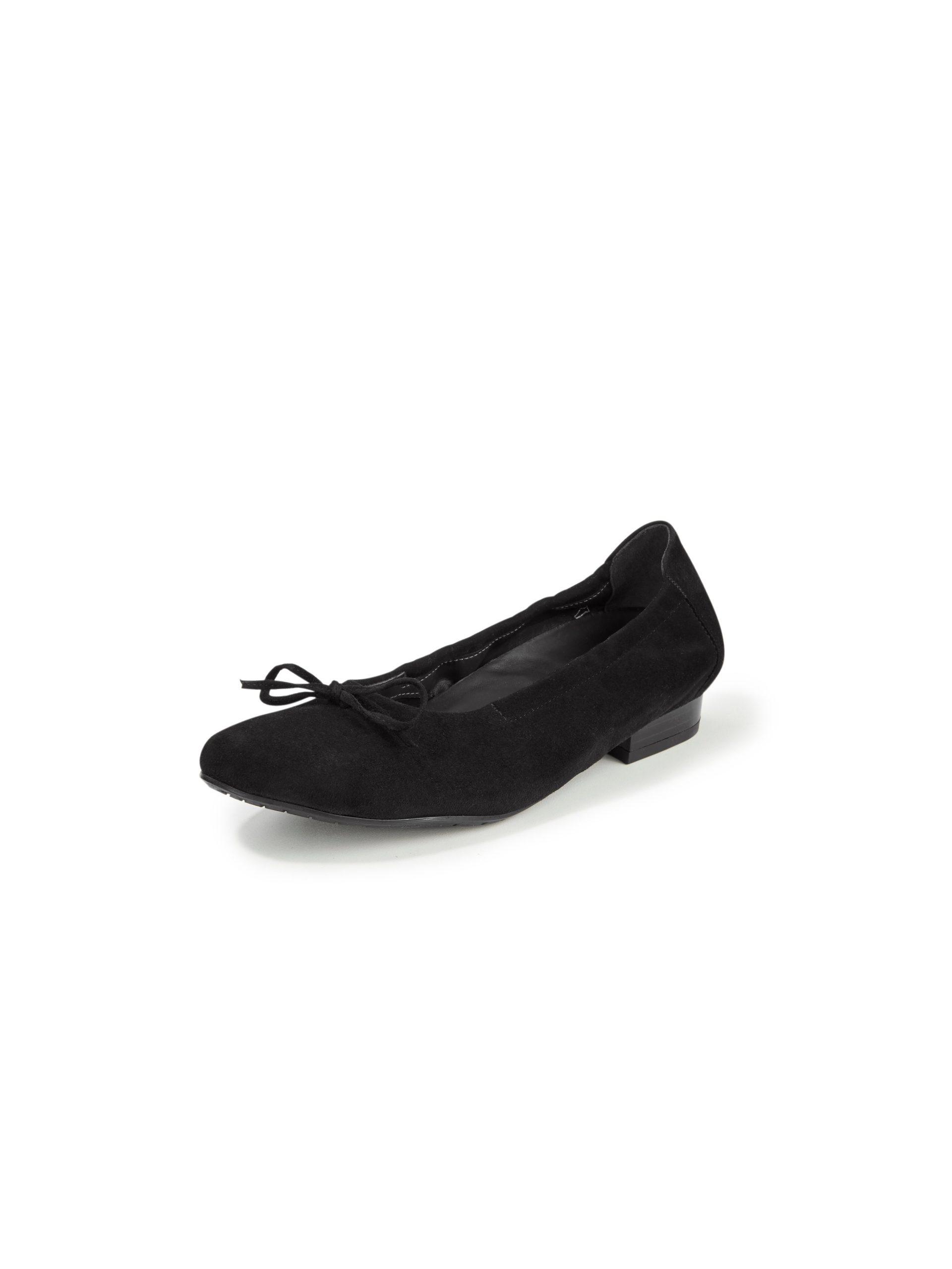 Ballerina's van geitensuèdeleer Van Semler zwart Kopen