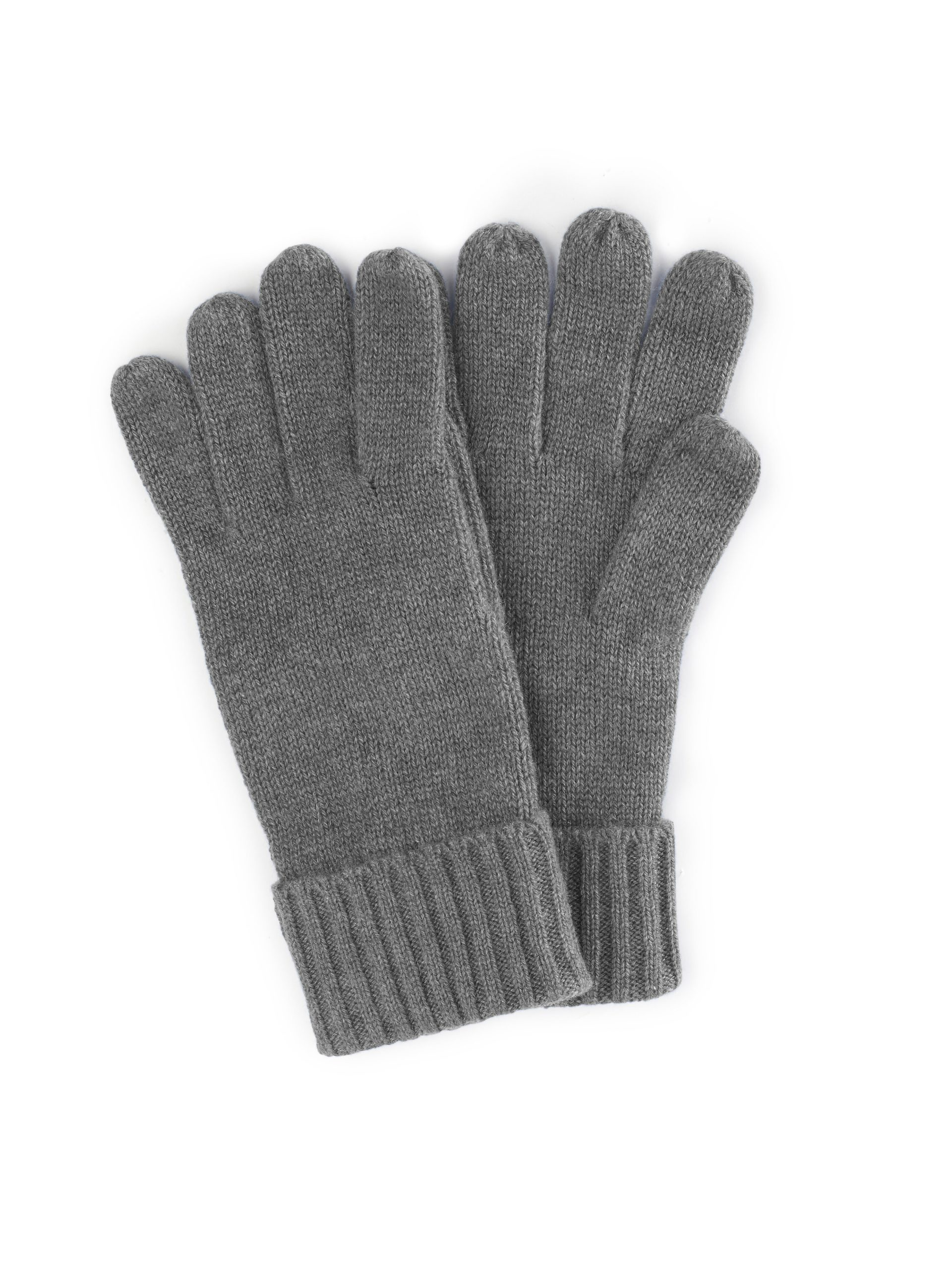 Handschoenen van 100% kasjmier Van Peter Hahn Cashmere grijs Kopen