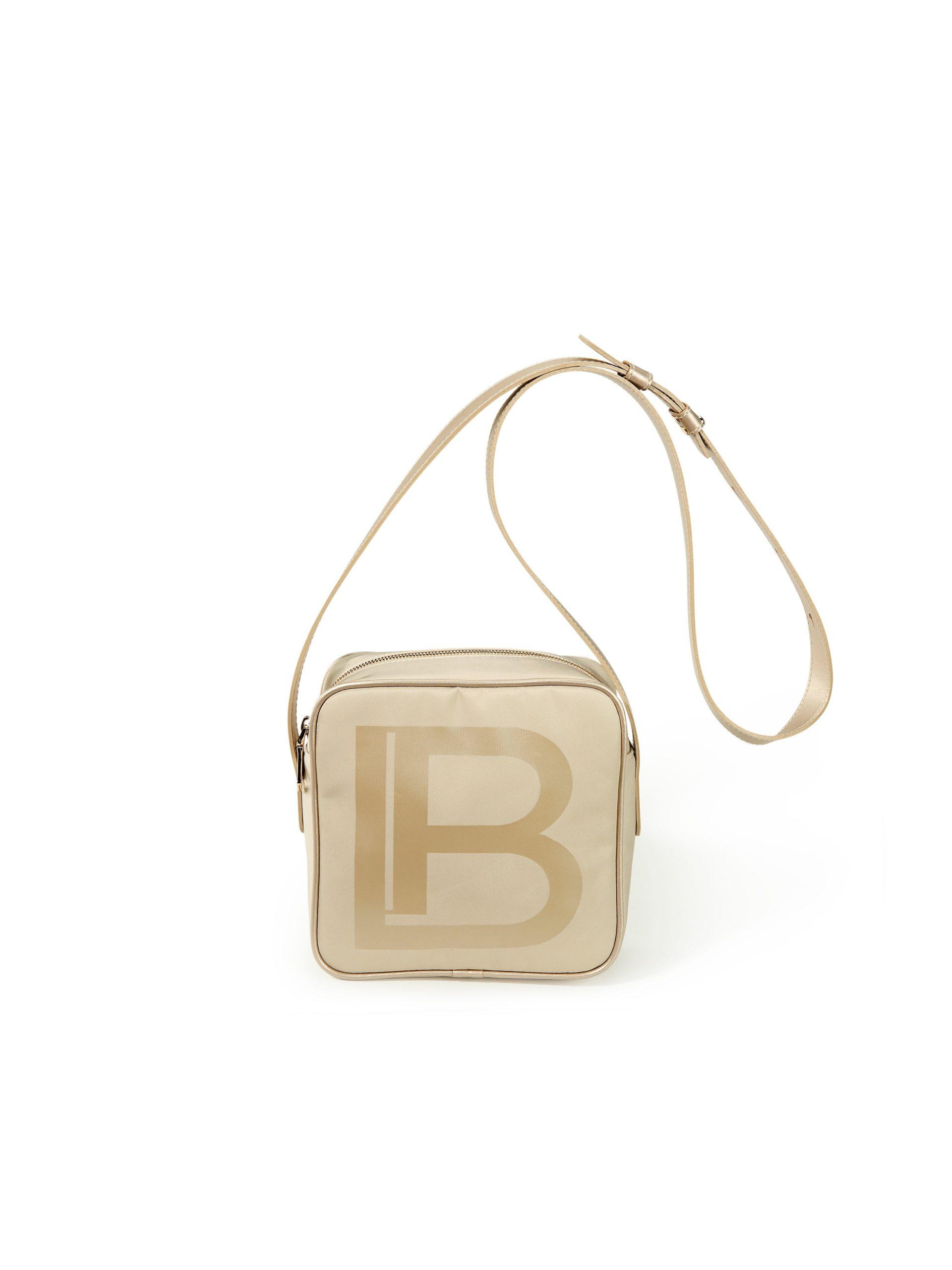 Tas met logoprint Van Laura Biagiotti Roma beige Kopen