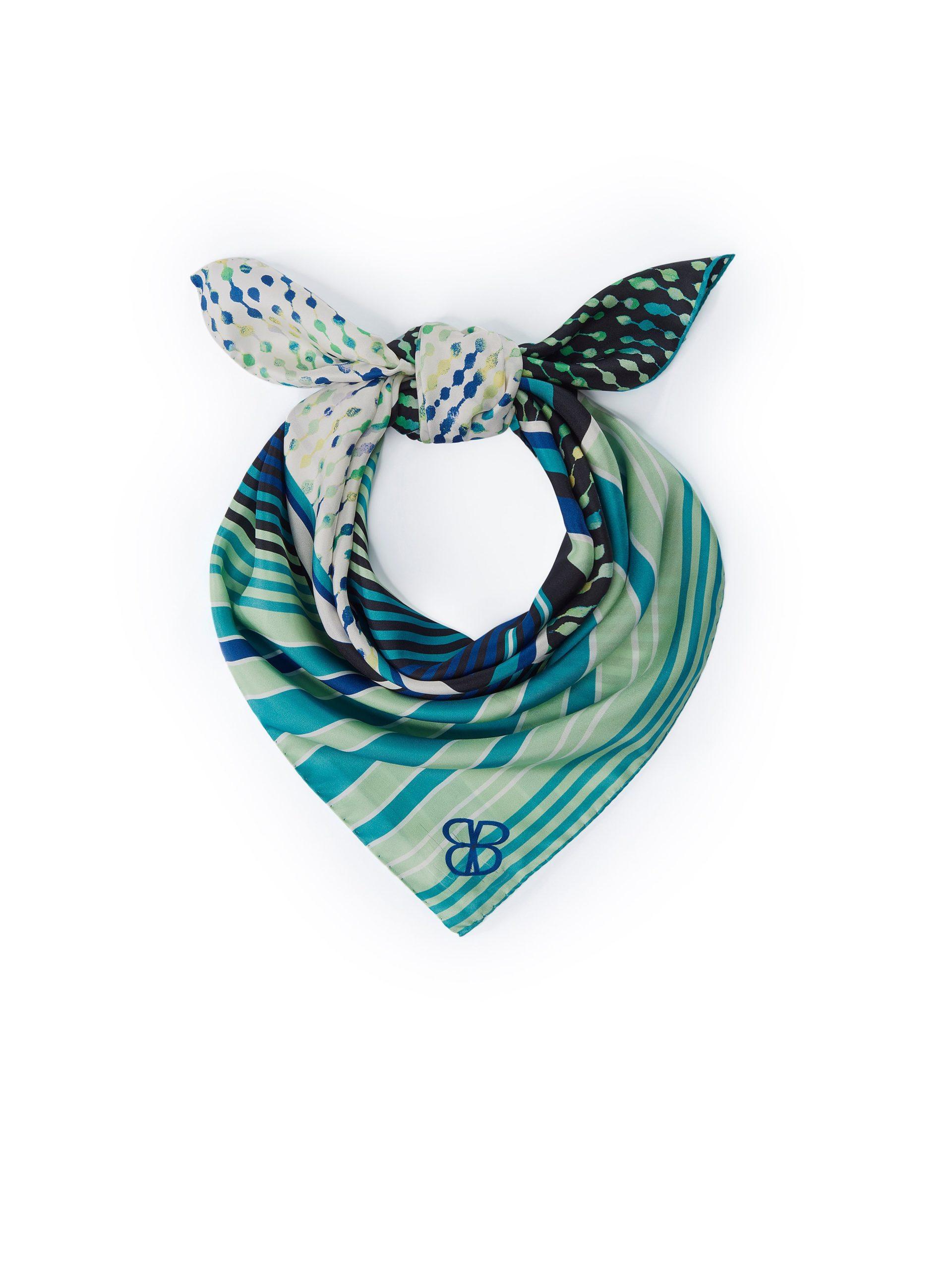 Sjaaltje van 100% zijde Van Basler multicolour Kopen