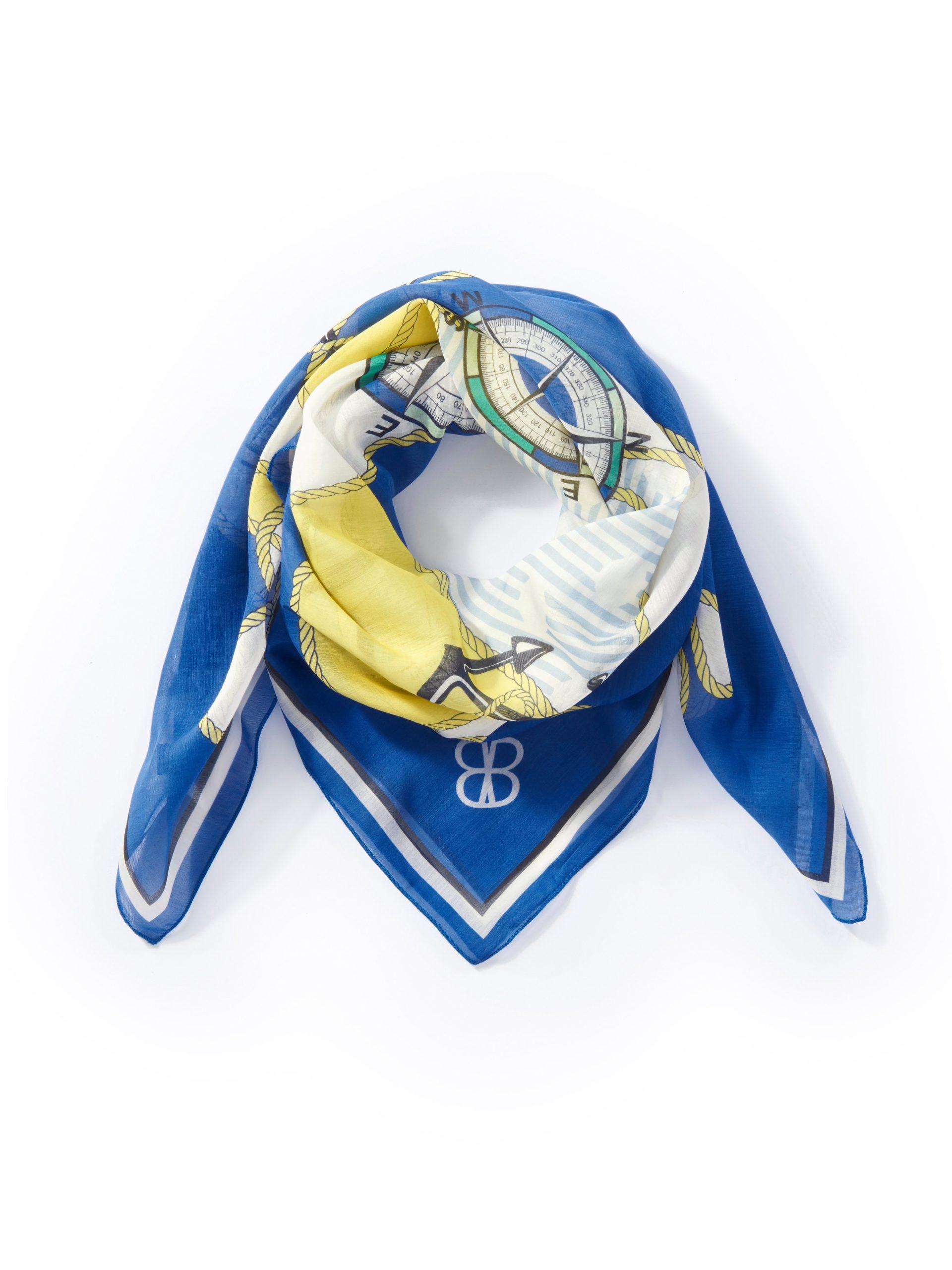 Sjaaltje met ingewerkt butterfly-logo Van Basler blauw Kopen