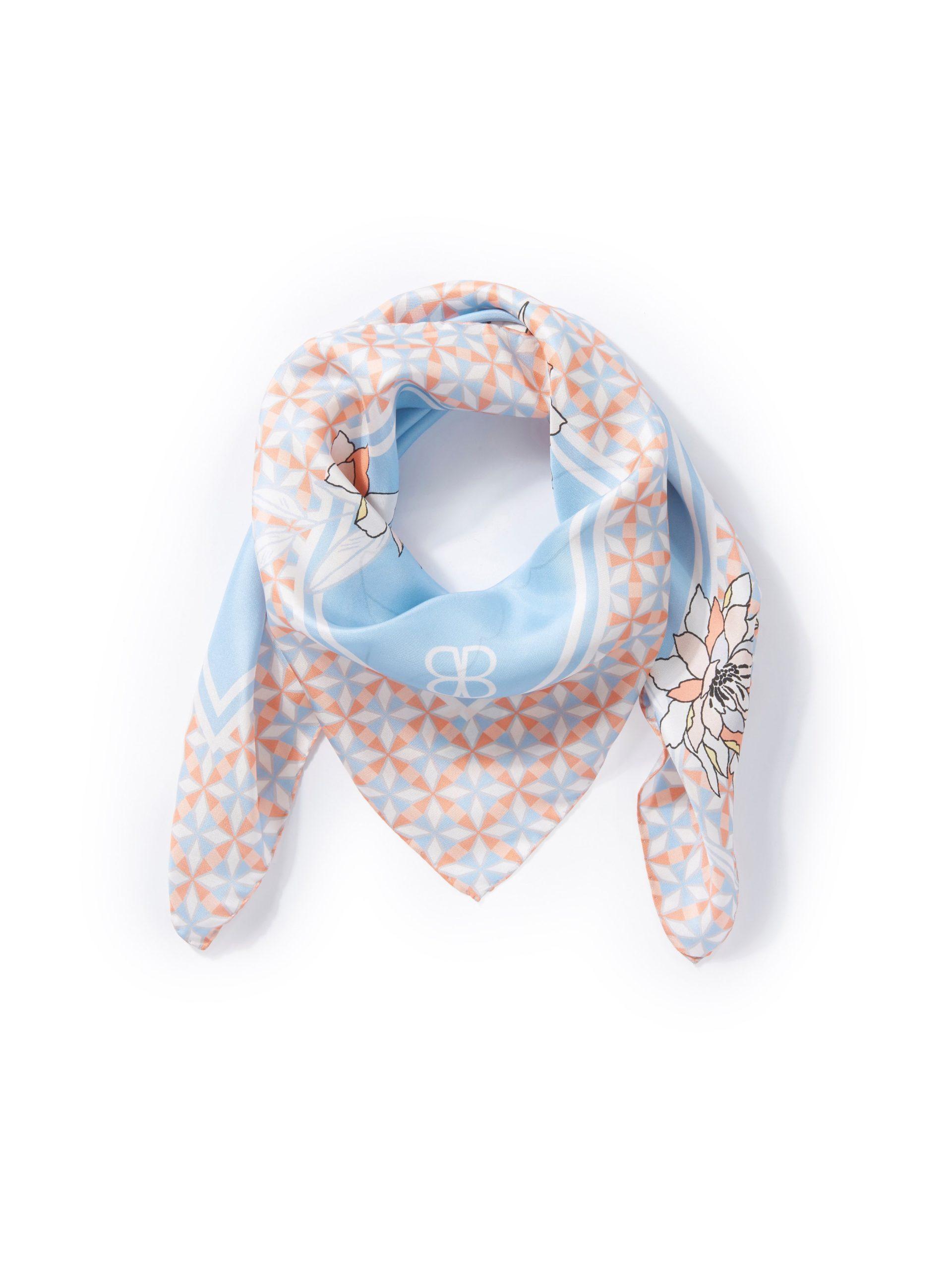 Sjaaltje van 100% zijde met bloemmotieven Van Basler multicolour Kopen