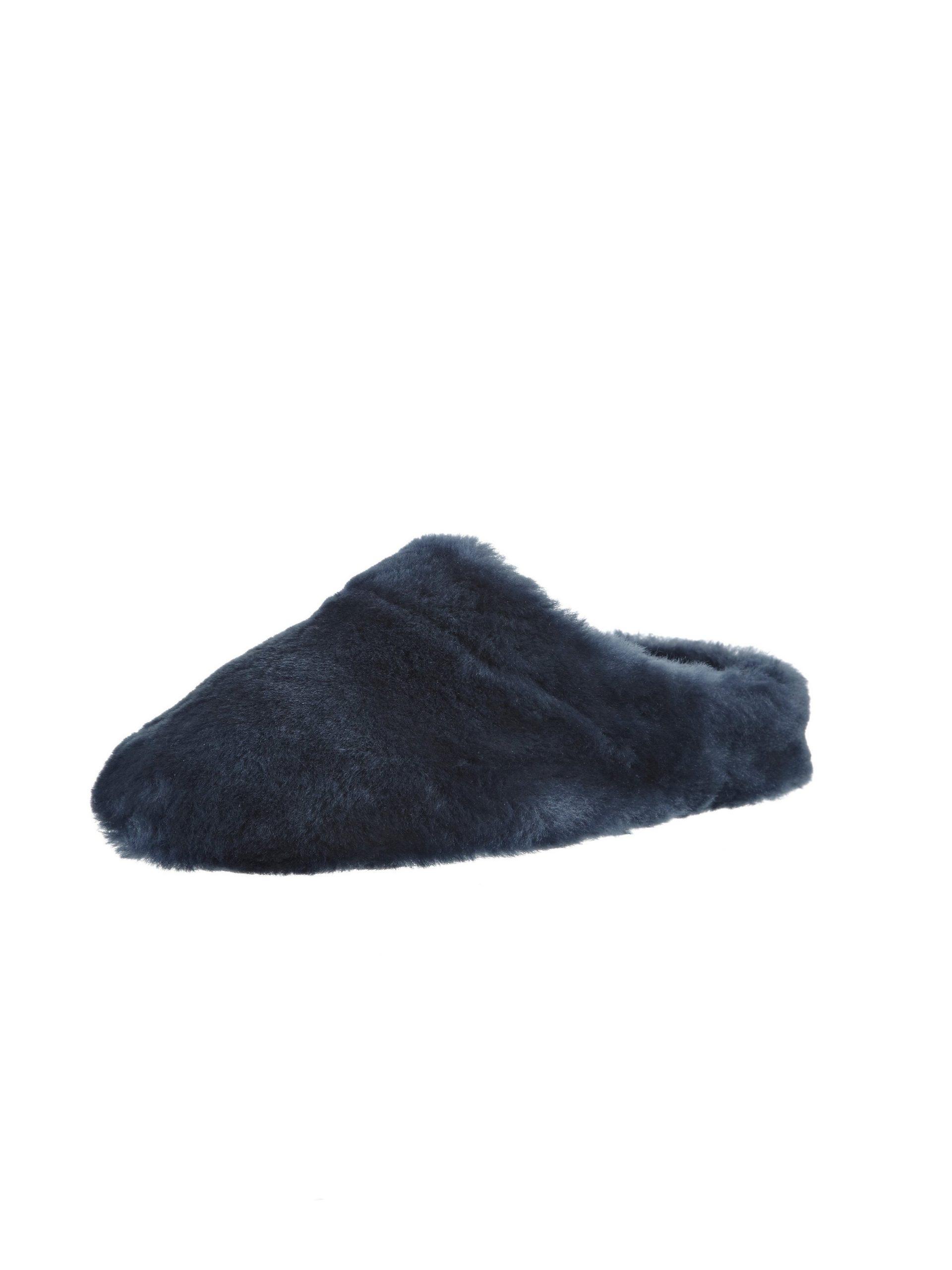Lammypantoffels Van Giesswein blauw Kopen